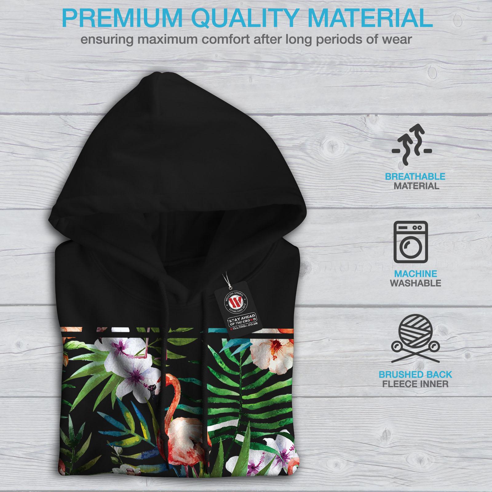 Ornament Hooded Casual Wellcoda New Black Sweatshirt Hoodie Mens AAqt78T