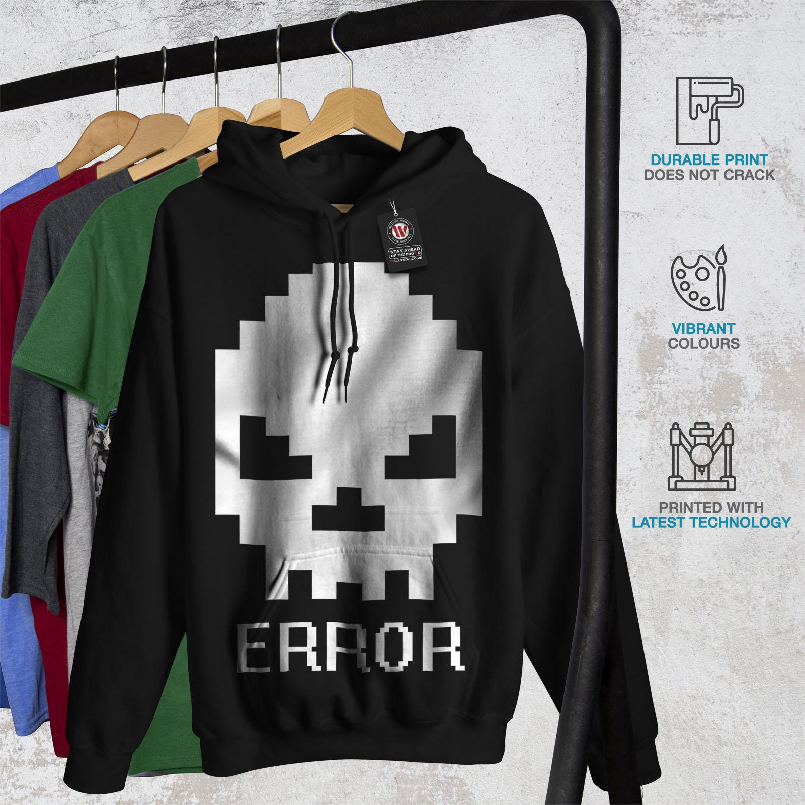 Wellcoda-Error-Geek-Skull-Mens-Hoodie-Skeleton-Casual-Hooded-Sweatshirt thumbnail 4