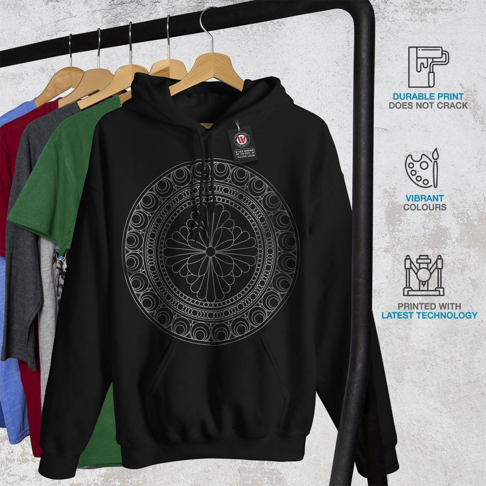 Wellcoda Mandala Mens Hoodie Fashion Art Casual Hooded Sweatshirt