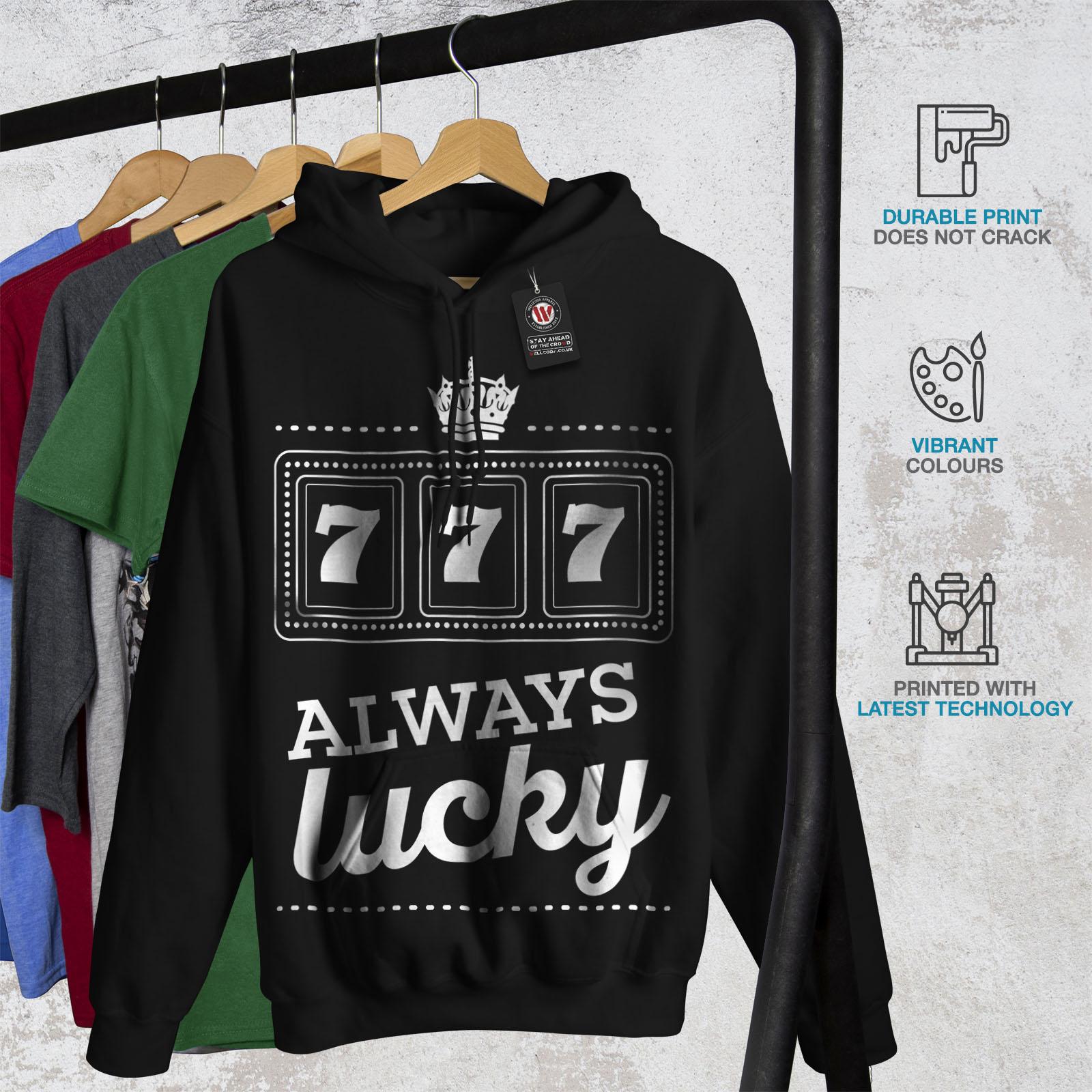Sweatshirt Hooded Fortune Mens Black Hoodie Wellcoda Casual IURXw