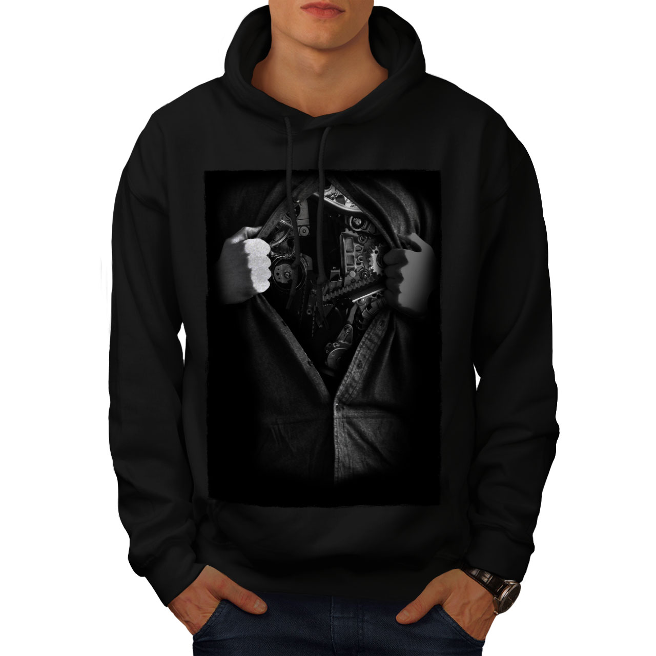 wellcoda Heart Music Mens Sweatshirt Soul Beat Casual Jumper