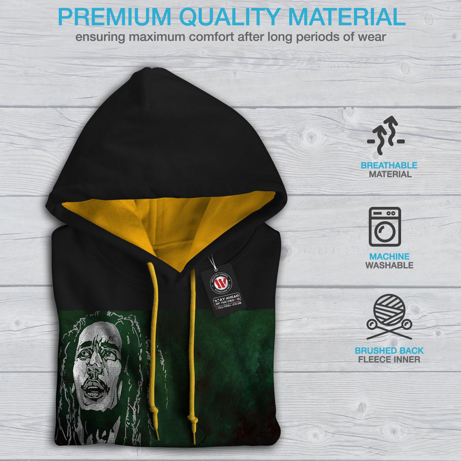 Jumper oro Rastafari contrasto Maglia uomo Happy a Casual Be cappuccio Black Marley Wellcoda q0z7HH