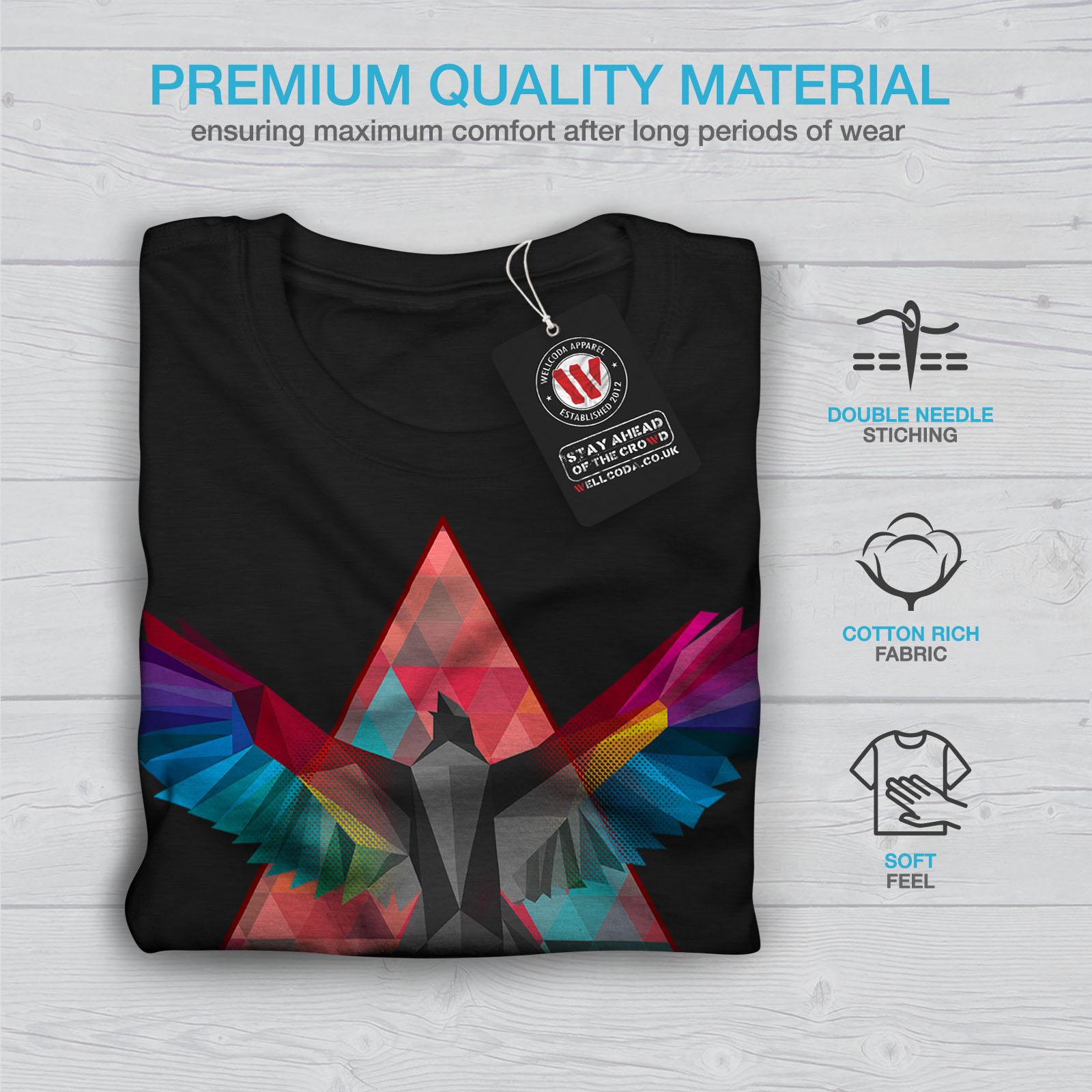 Bird Graphic Design Printed Tee Wellcoda Geometric Bird Fashion Mens T-shirt