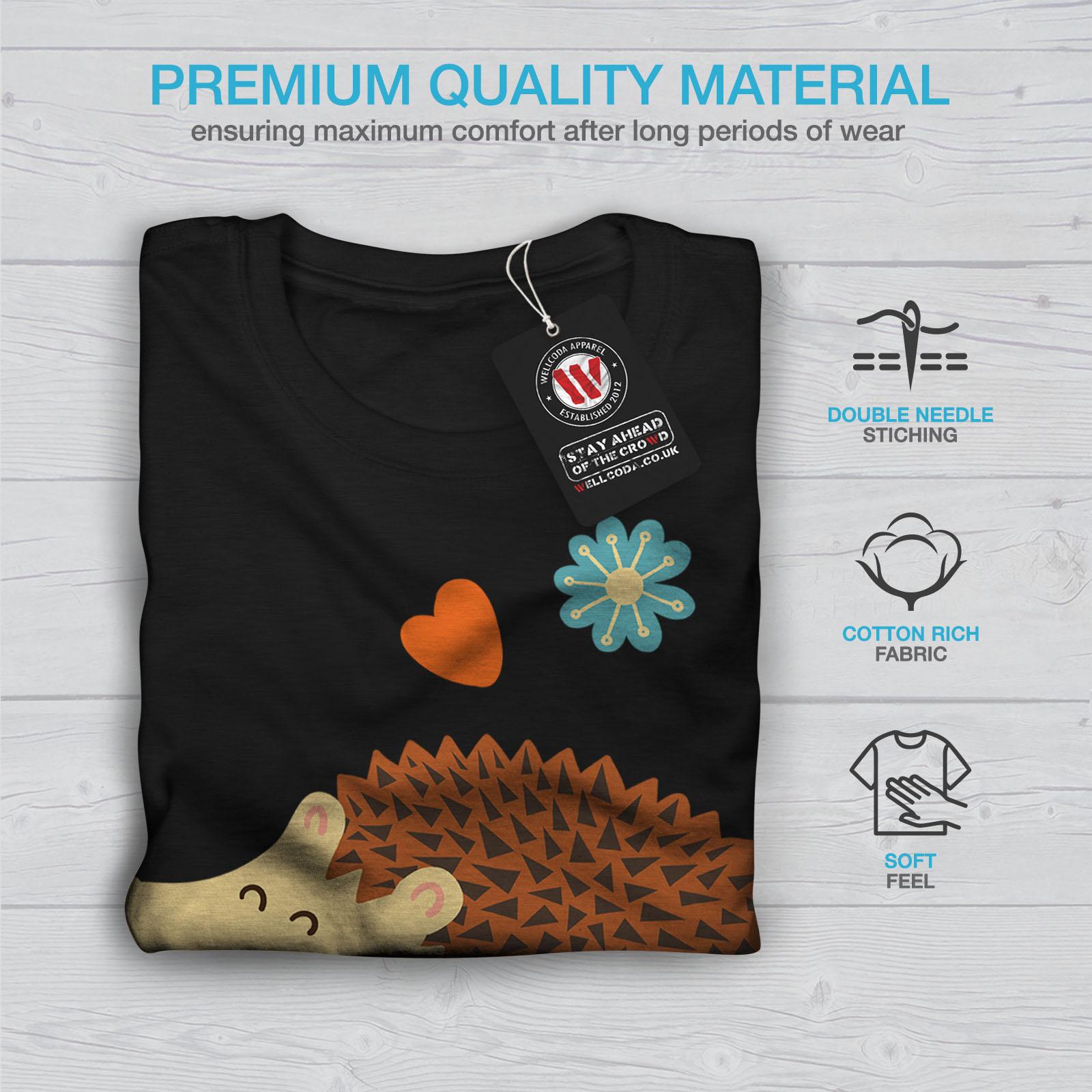 heureux de conception graphique imprimé Tee Wellcoda Hérisson Cool Blague T-shirt homme