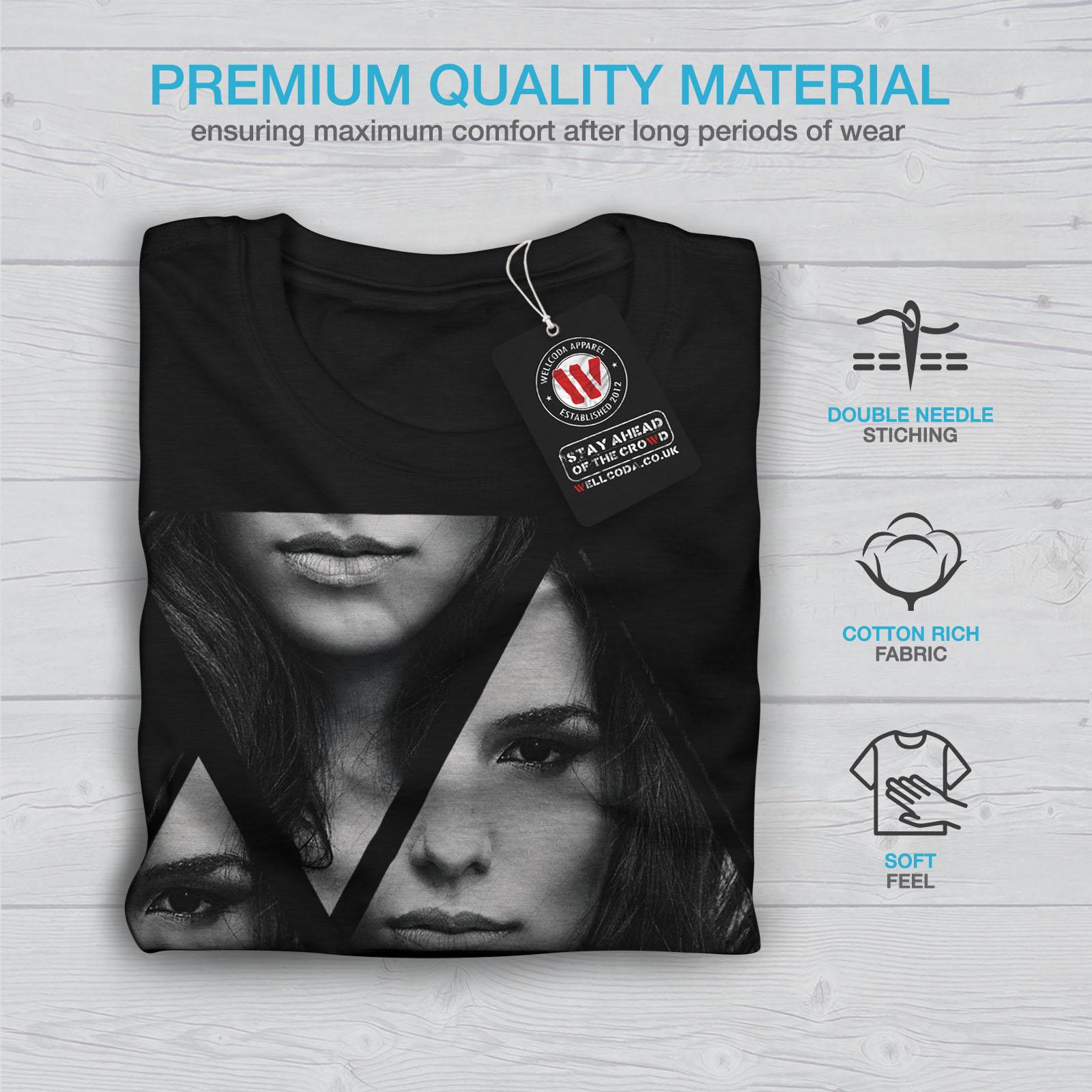 Wellcoda-Art-Fashion-Face-T-shirt-homme-Abstract-Design-graphique-imprime-Tee miniature 7