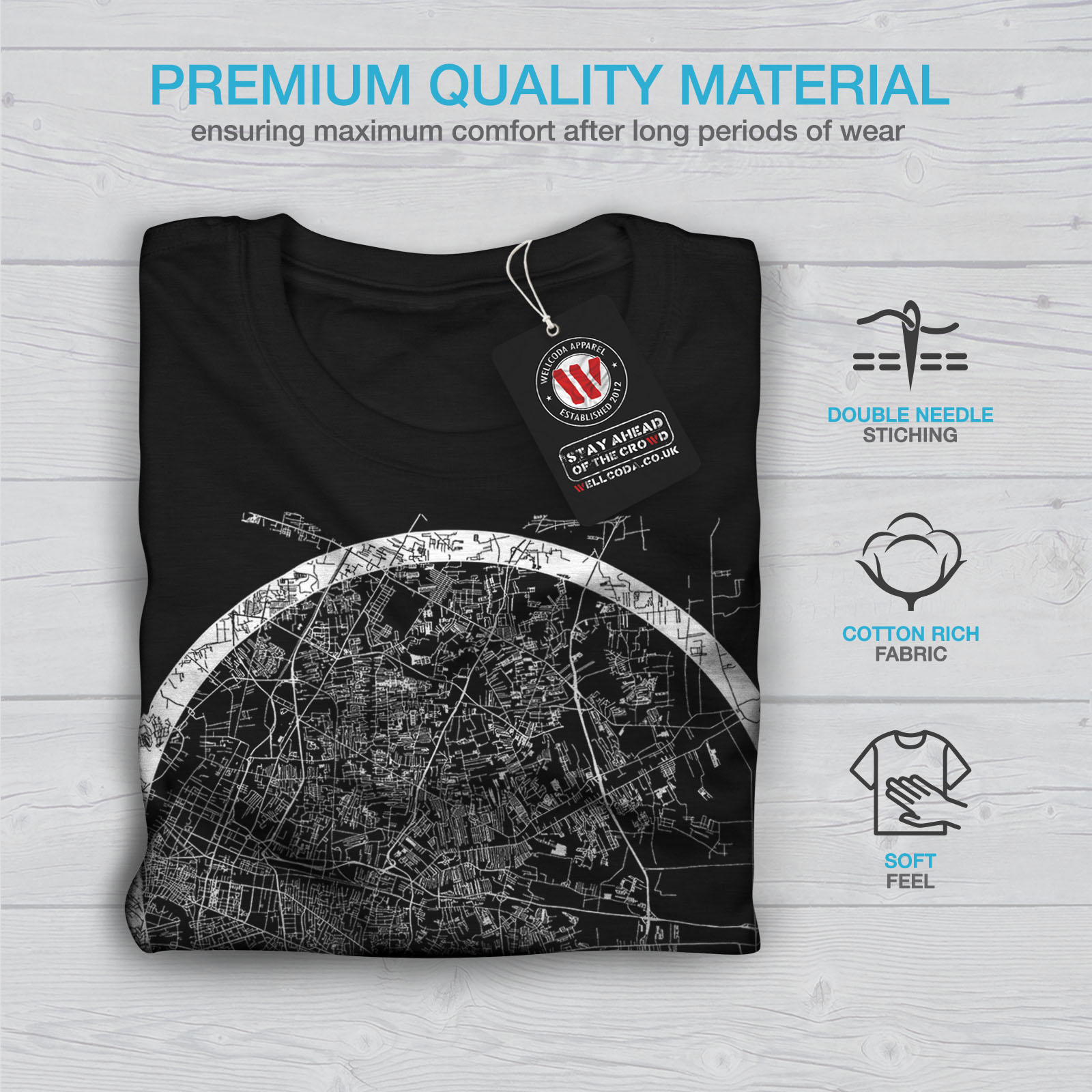 Wellcoda-Thailand-Bangkok-Map-Mens-T-shirt-Big-Graphic-Design-Printed-Tee thumbnail 7