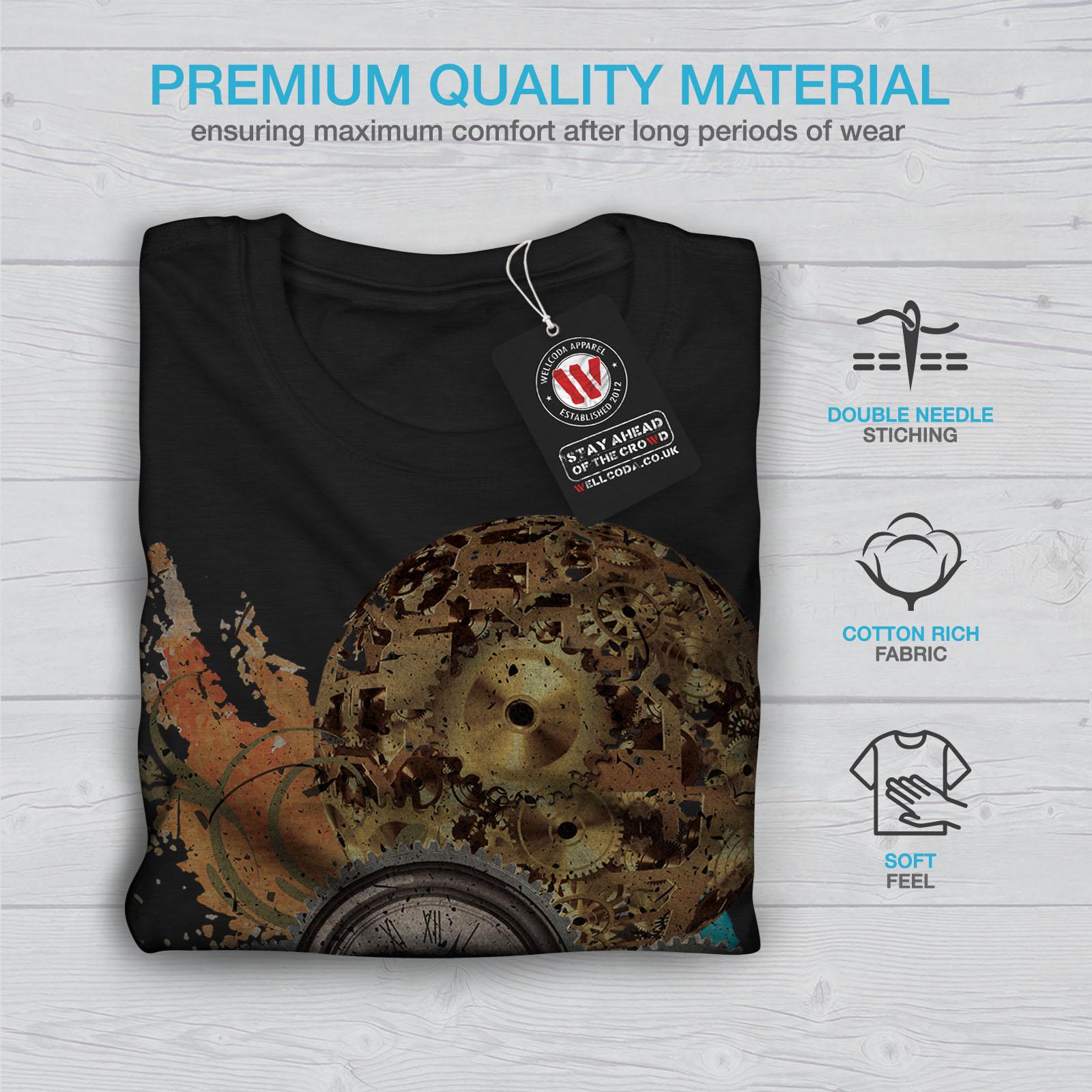 Wellcoda-Clock-Cool-Print-Mens-T-shirt-Illusion-Graphic-Design-Printed-Tee thumbnail 7