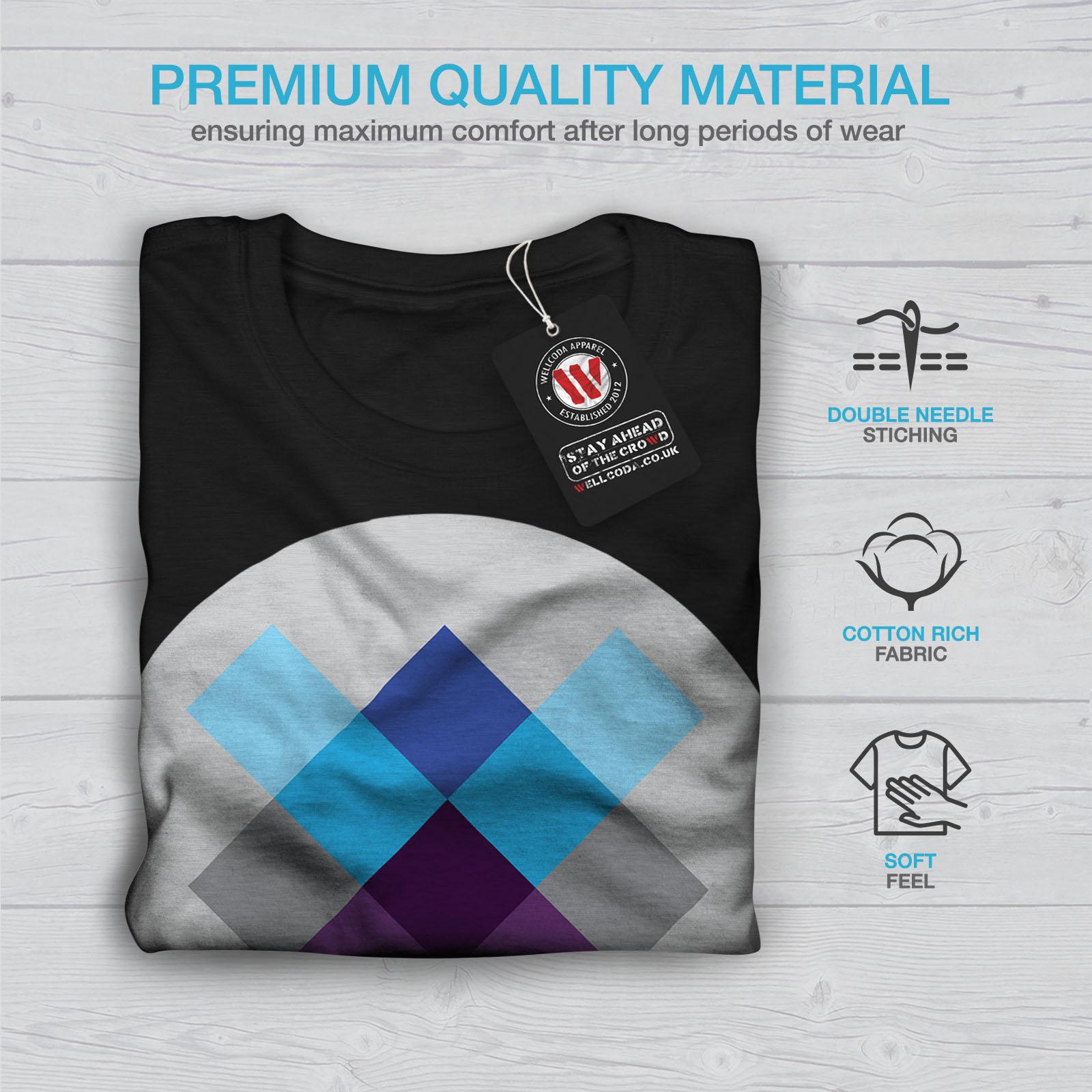 spostandosi design grafico stampato T-shirt Wellcoda GEOMETRIA Ornamento Da Uomo T-shirt