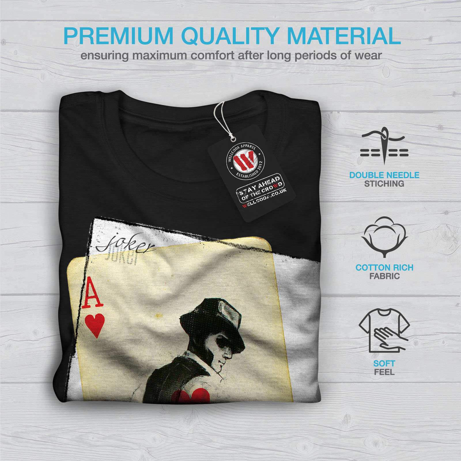 Wellcoda-POKER-misterioso-Da-Uomo-T-shirt-Gamble-design-grafico-stampato-T-shirt miniatura 7