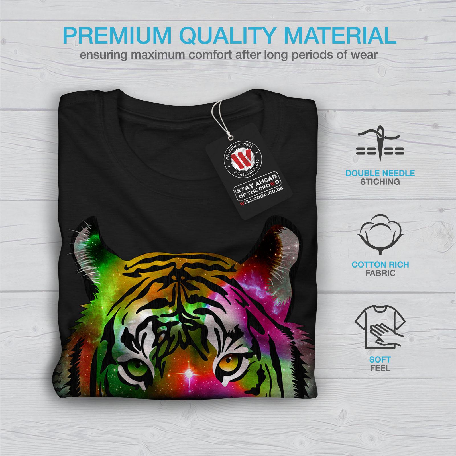 Cosmic design graphique imprimé Tee Wellcoda Beast Animal Tigre T-shirt homme