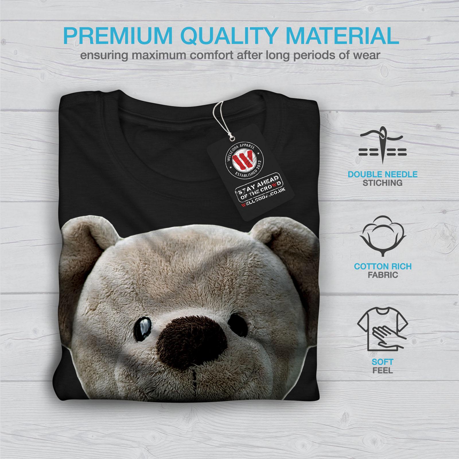 miniature 7 - Wellcoda Cute Plush Mens T-shirt, Teddy Bear Graphic Design Printed Tee