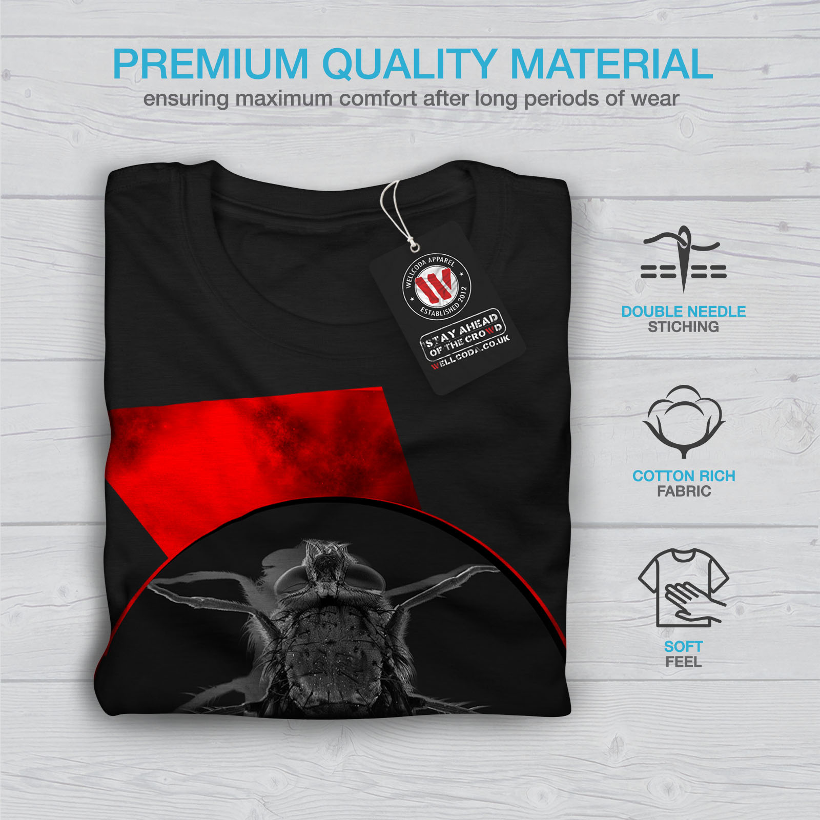 Graphique Graphique Wellcoda Bug Insect Insect Insect T Homme Animal Insectes Shirt Fly xSwxPqR