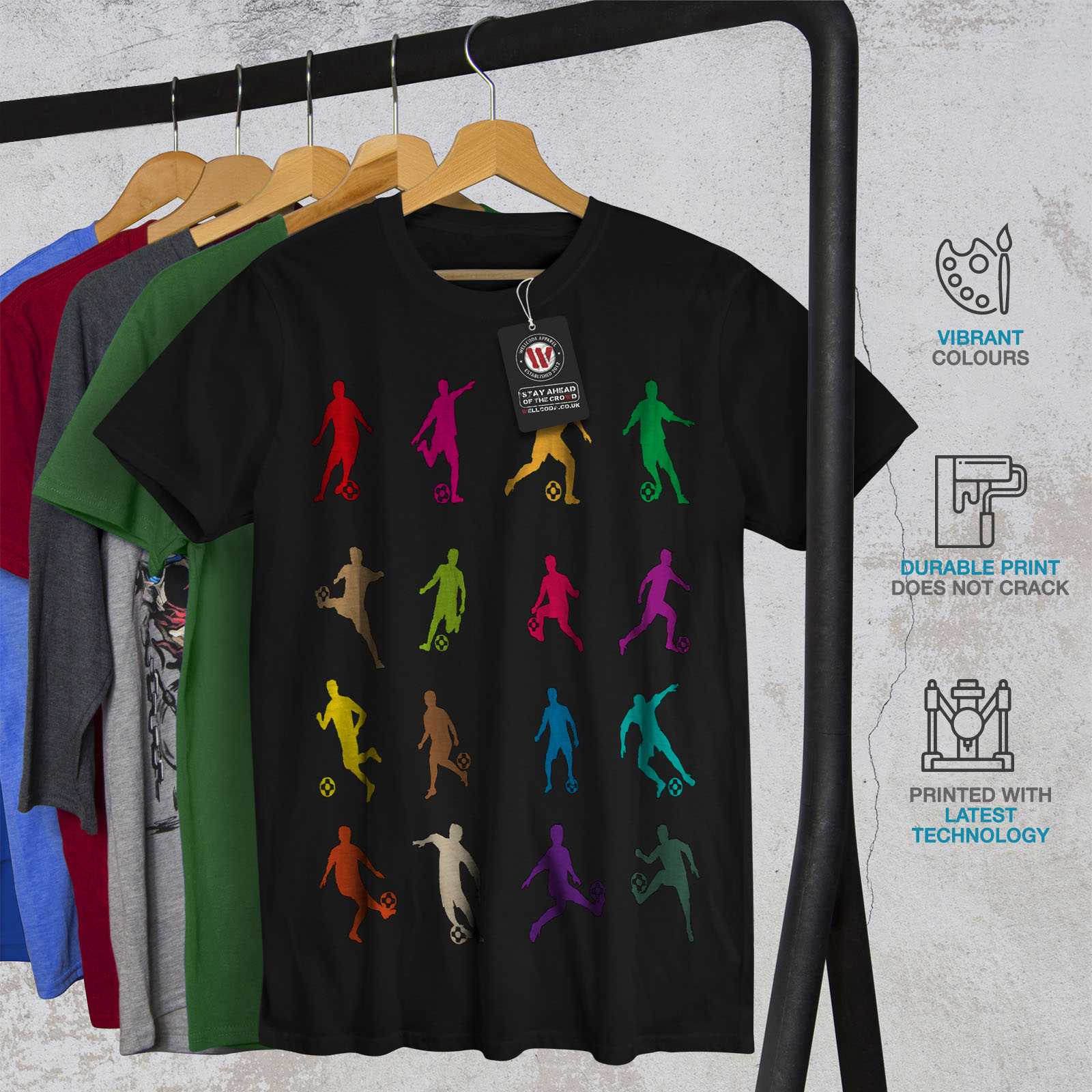 Ball Graphic Design Printed Tee Wellcoda Football Game Sport Mens T-shirt