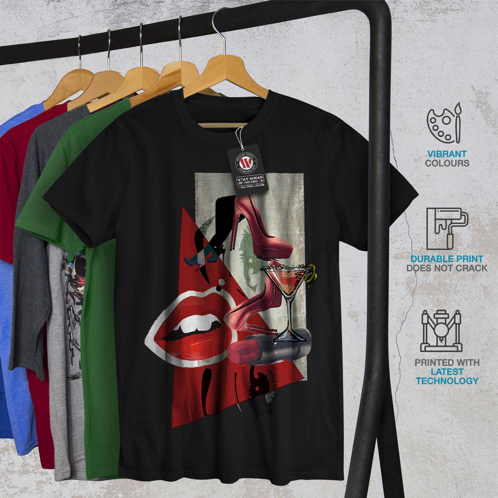 Glamour Graphic Design Printed Tee Wellcoda Lady Stylish Fashion Mens T-shirt