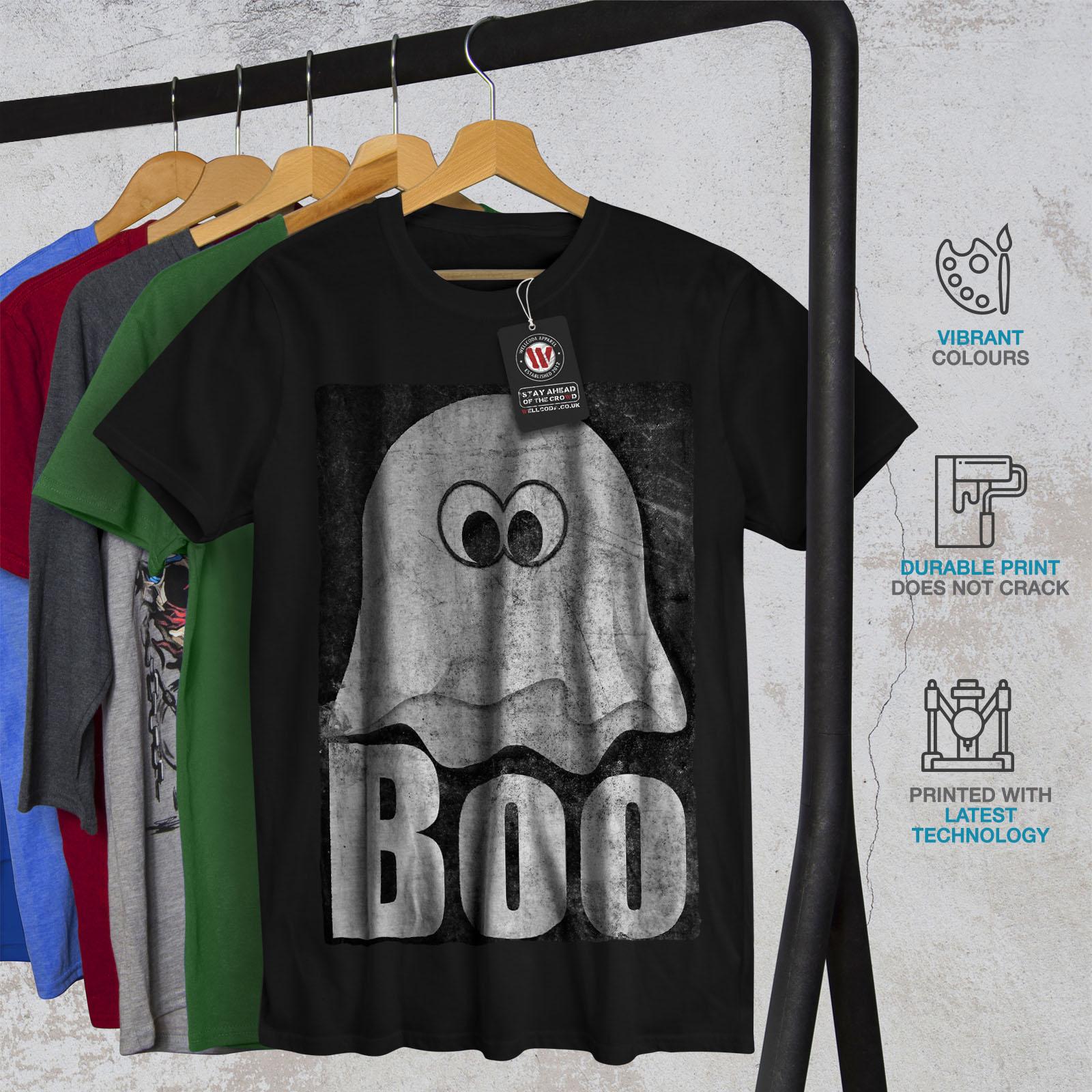 Wellcoda Ghost Cartoon Cute Mens T-shirt Comedy Graphic Design Printed Tee