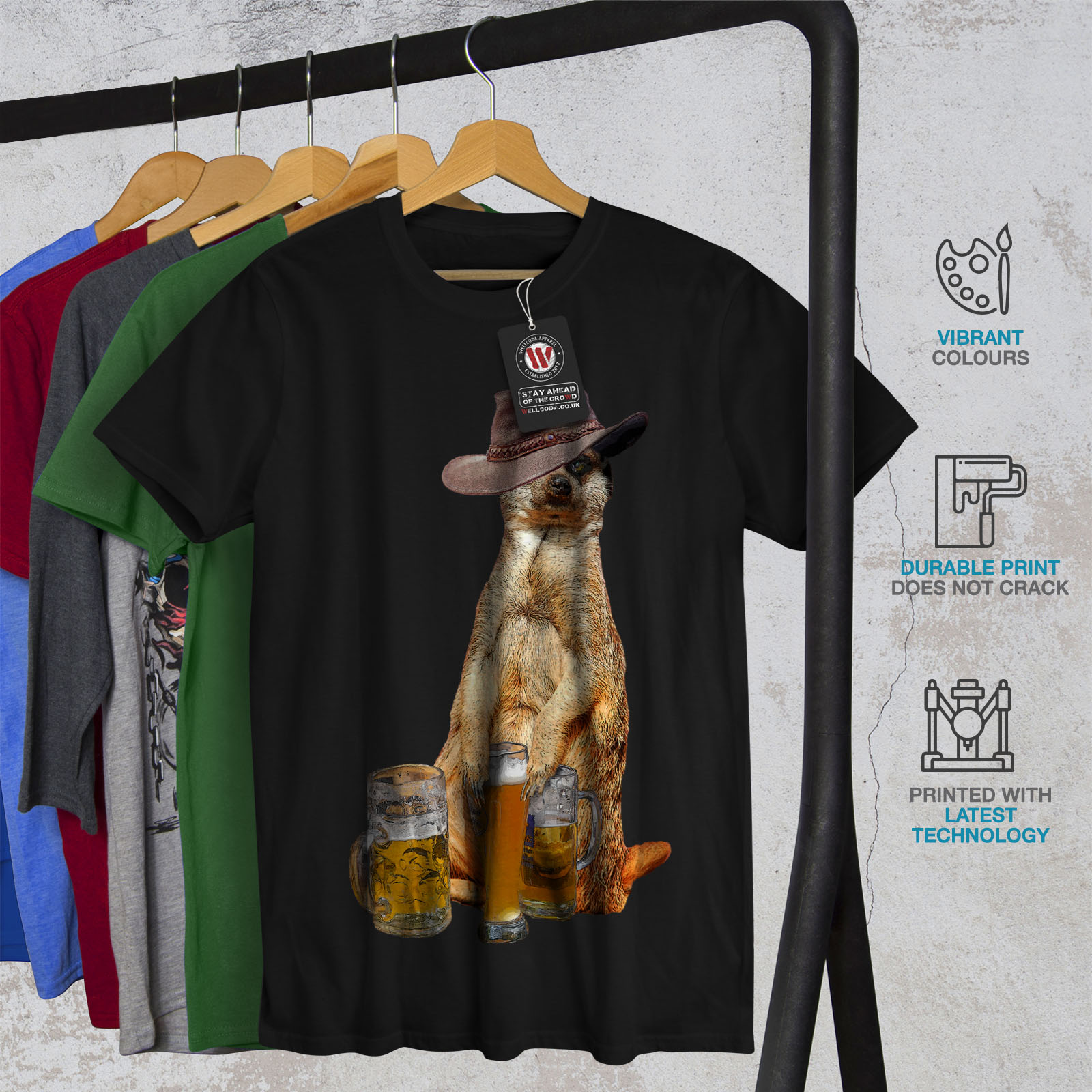 Wellcoda-Drunk-Animal-Beer-Mens-T-shirt-Funny-Graphic-Design-Printed-Tee thumbnail 6