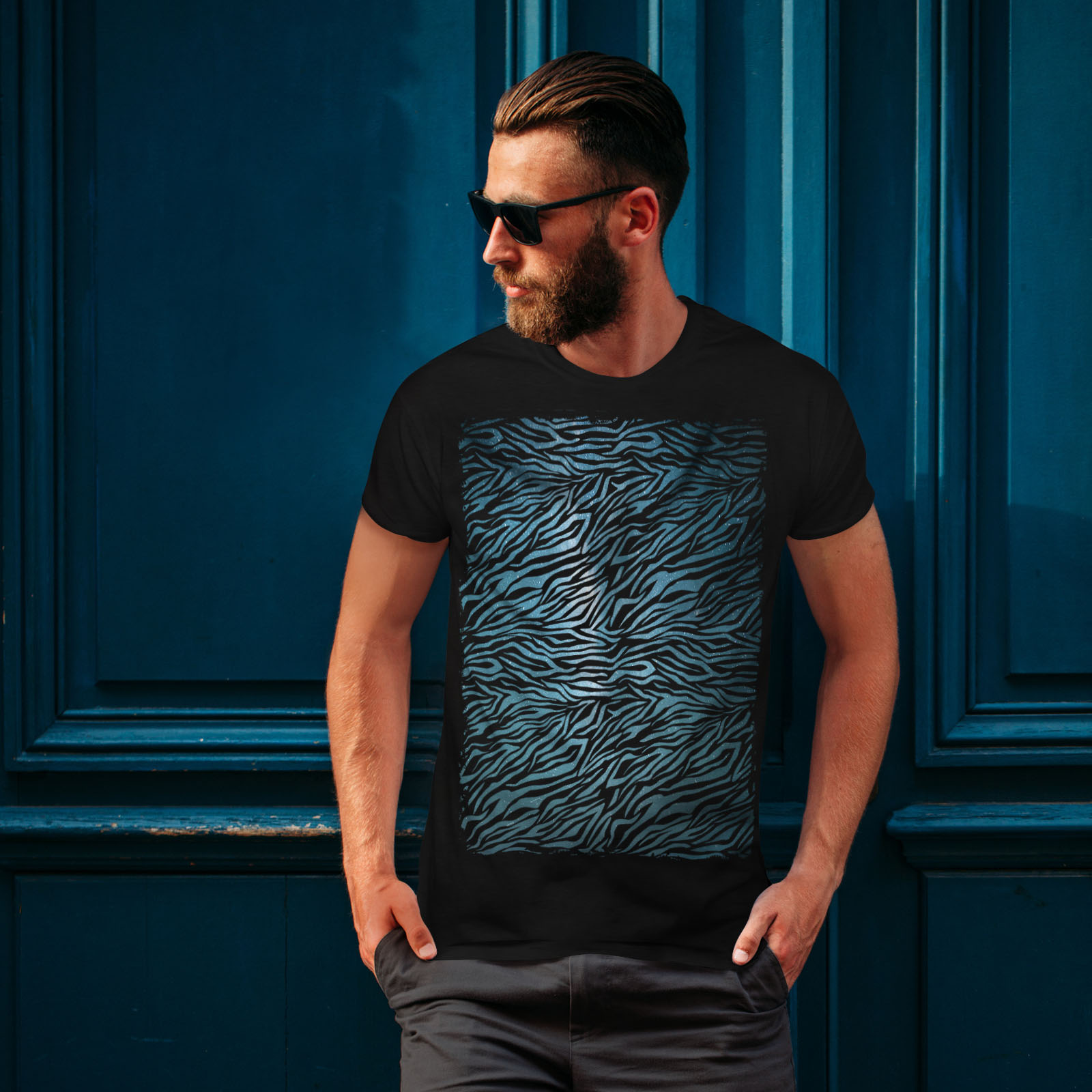 Wellcoda-Fashion-Pattern-Mens-T-shirt-Animal-Graphic-Design-Printed-Tee miniatuur 4