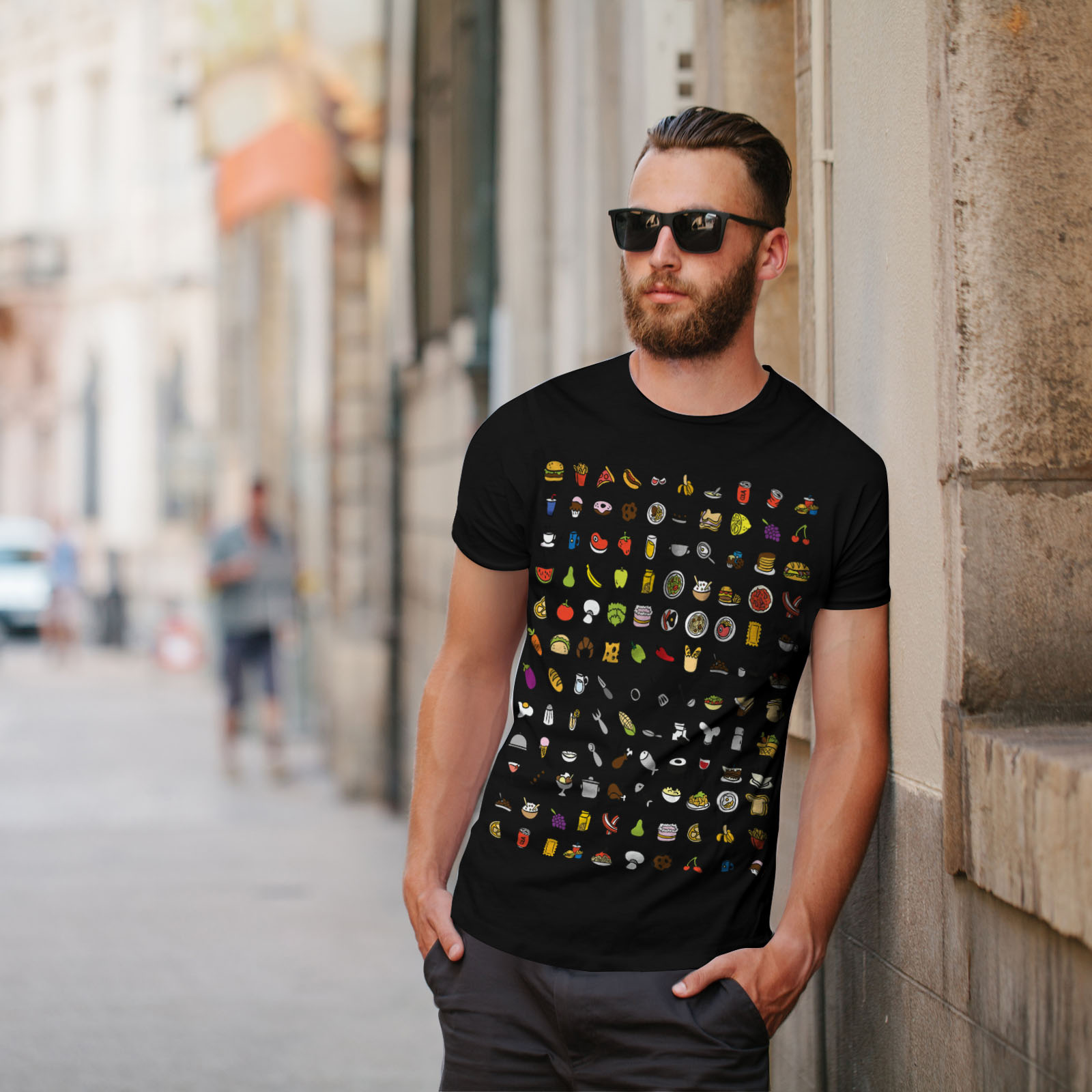 Wellcoda drôle Junk élégant T-shirt homme Manger De Design Graphique Imprimé Tee