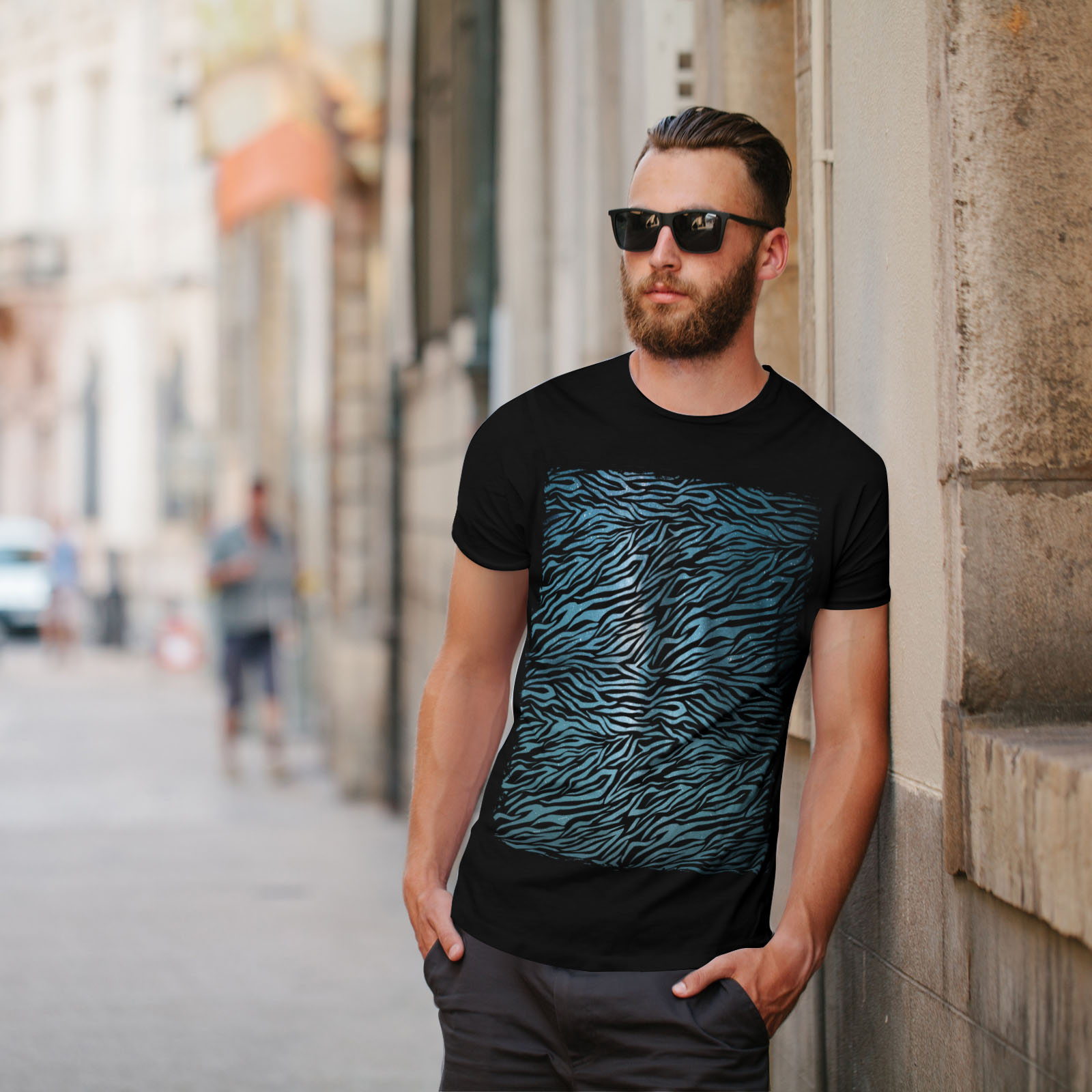 Wellcoda-Fashion-Pattern-Mens-T-shirt-Animal-Graphic-Design-Printed-Tee miniatuur 5
