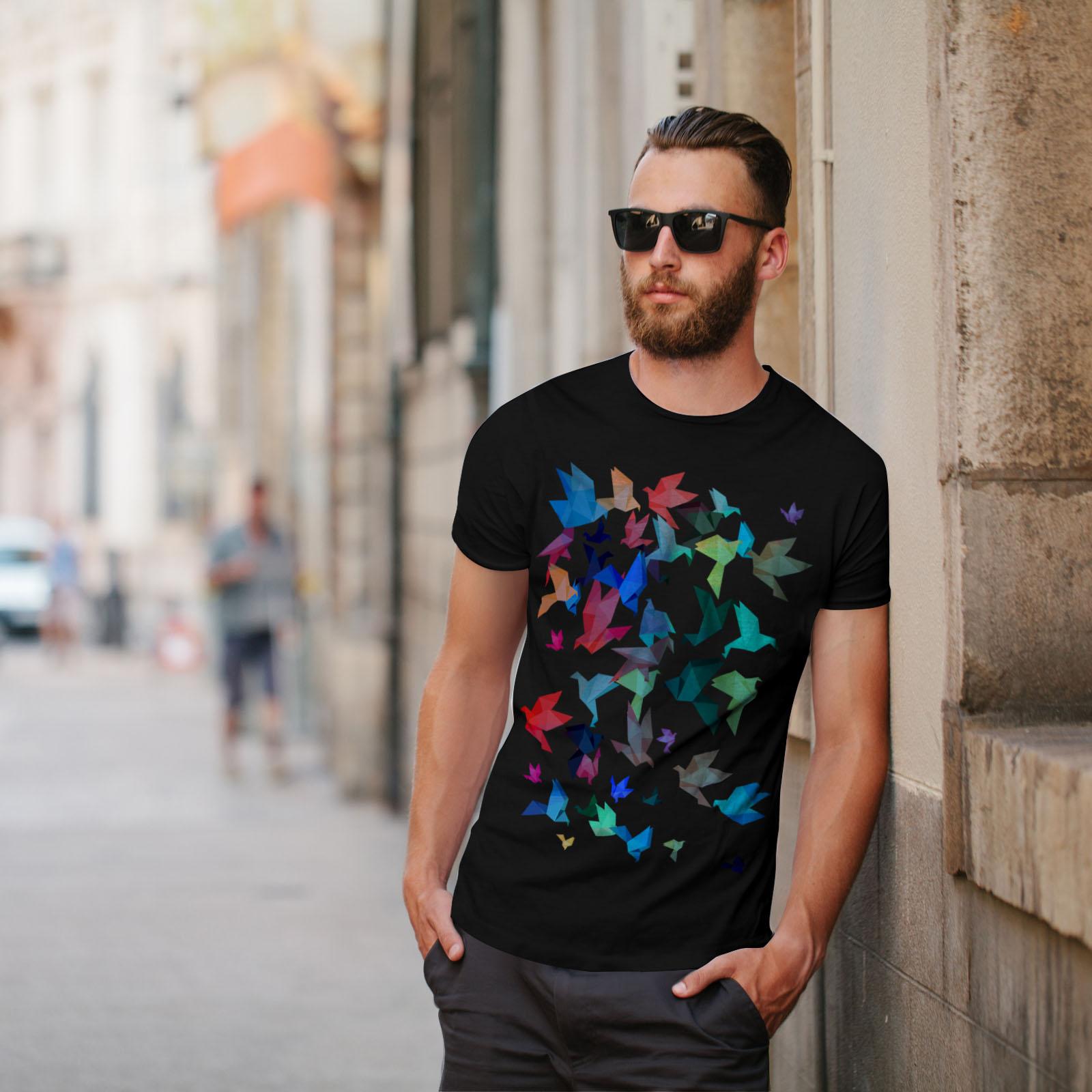 Wellcoda-Origami-Bird-Colors-Mens-T-shirt-Craft-Graphic-Design-Printed-Tee thumbnail 5