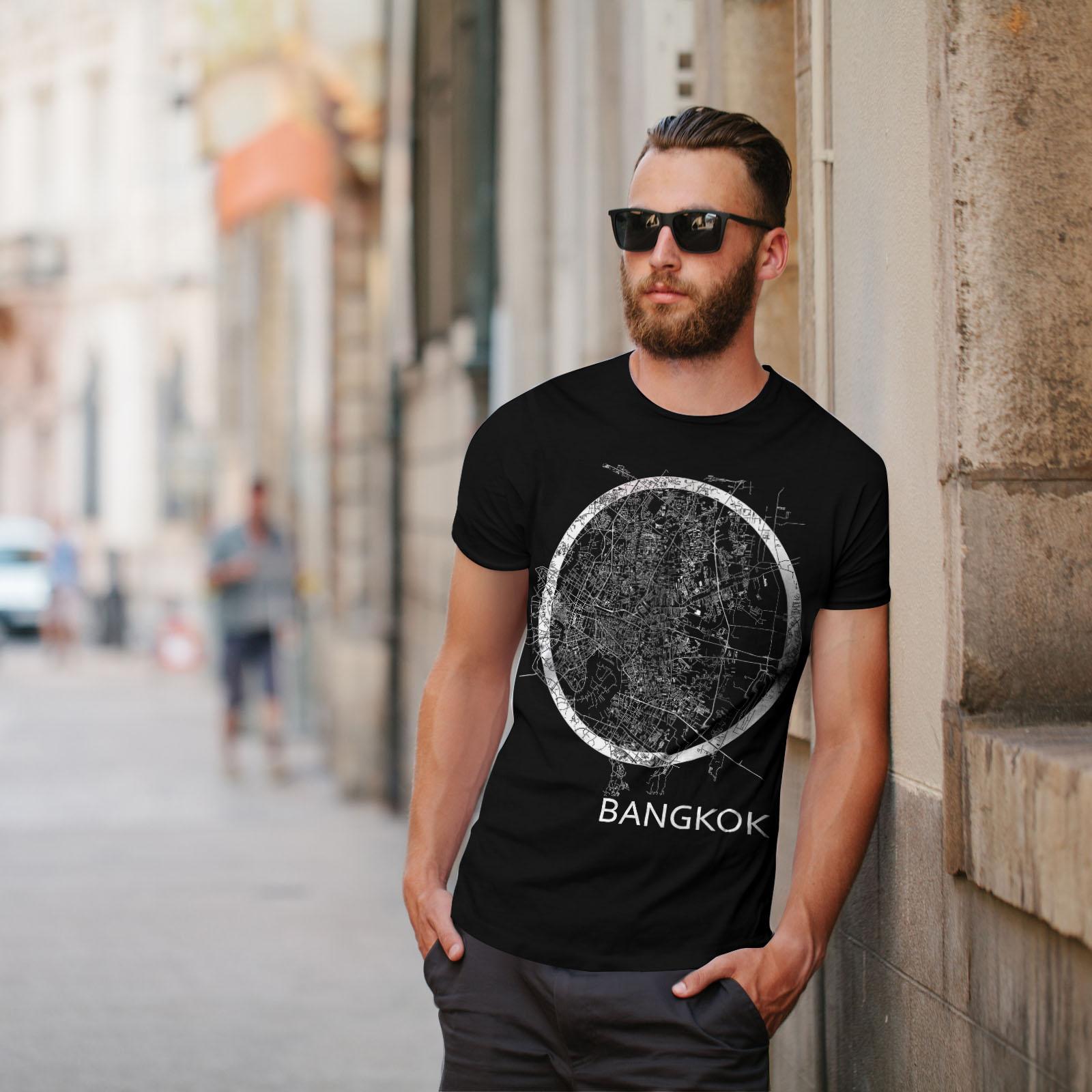 Wellcoda-Thailand-Bangkok-Map-Mens-T-shirt-Big-Graphic-Design-Printed-Tee thumbnail 5