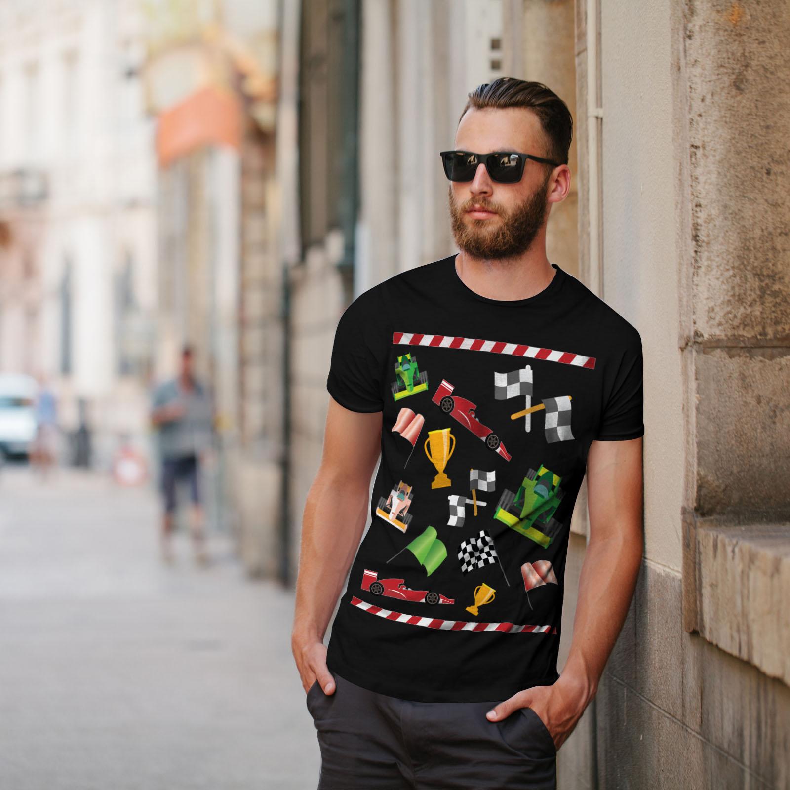 Pattern Graphic Design Printed Tee Wellcoda Formula Racing Mens T-shirt