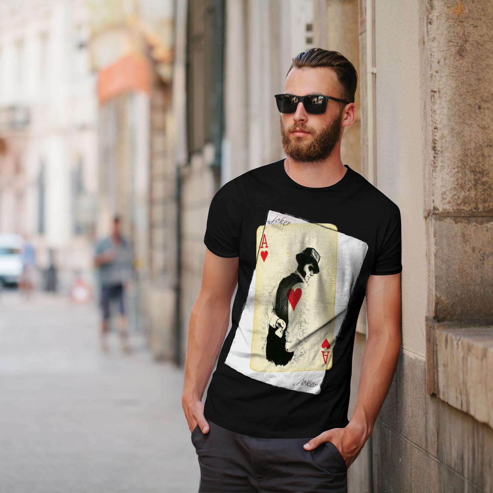 Wellcoda-POKER-misterioso-Da-Uomo-T-shirt-Gamble-design-grafico-stampato-T-shirt miniatura 5