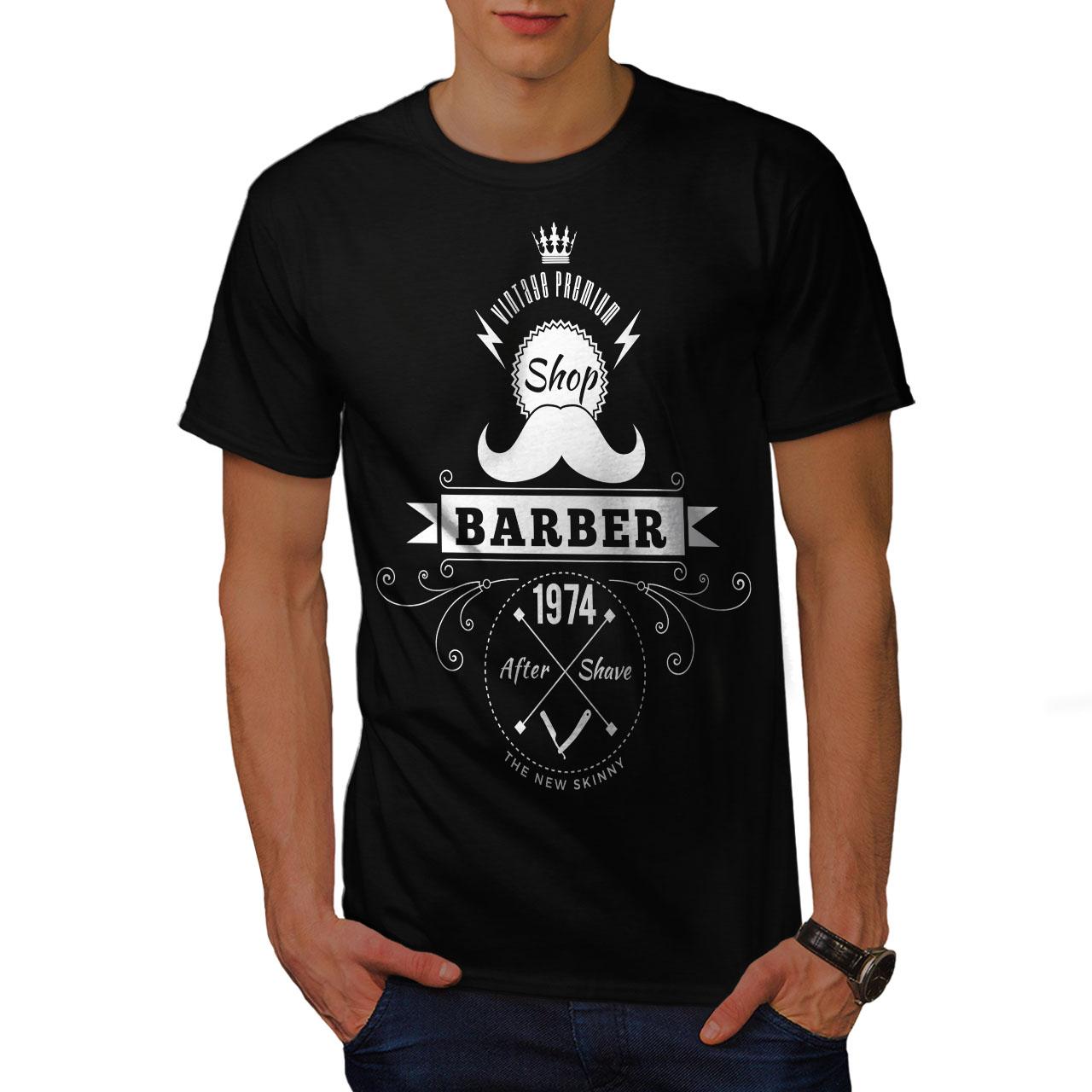 Wellcoda-Barber-Shop-Mens-T-shirt-Hipster-Graphic-Design-Printed-Tee