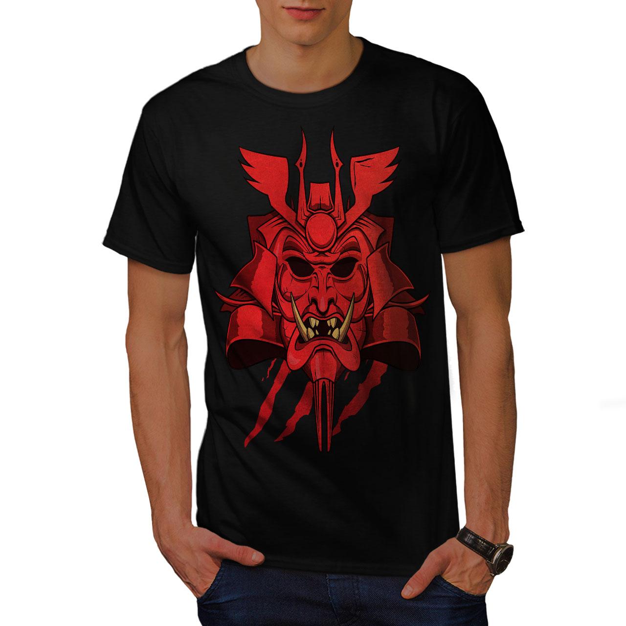 T Shirt Japanese Design | Wellcoda Japanese Oni Mask Mens T Shirt Japan Graphic Design