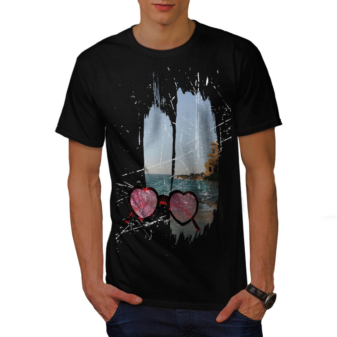 Wellcoda Mare Spiaggia Viaggio Da Uomo T-shirt Vacanza design grafico stampato T-shirt