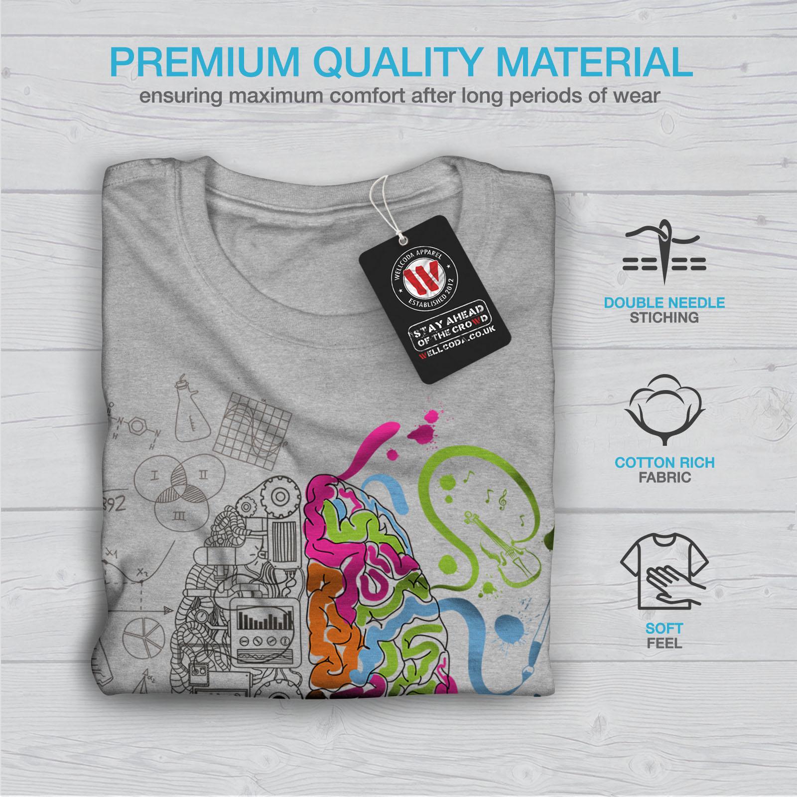 Mind Graphic Design Printed Tee Wellcoda Imagination Tech Mens T-shirt