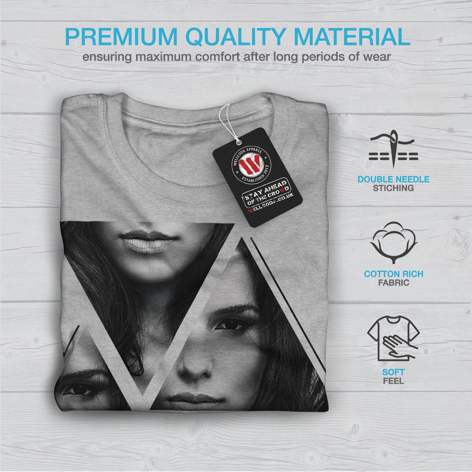 Wellcoda-Art-Fashion-Face-T-shirt-homme-Abstract-Design-graphique-imprime-Tee miniature 19