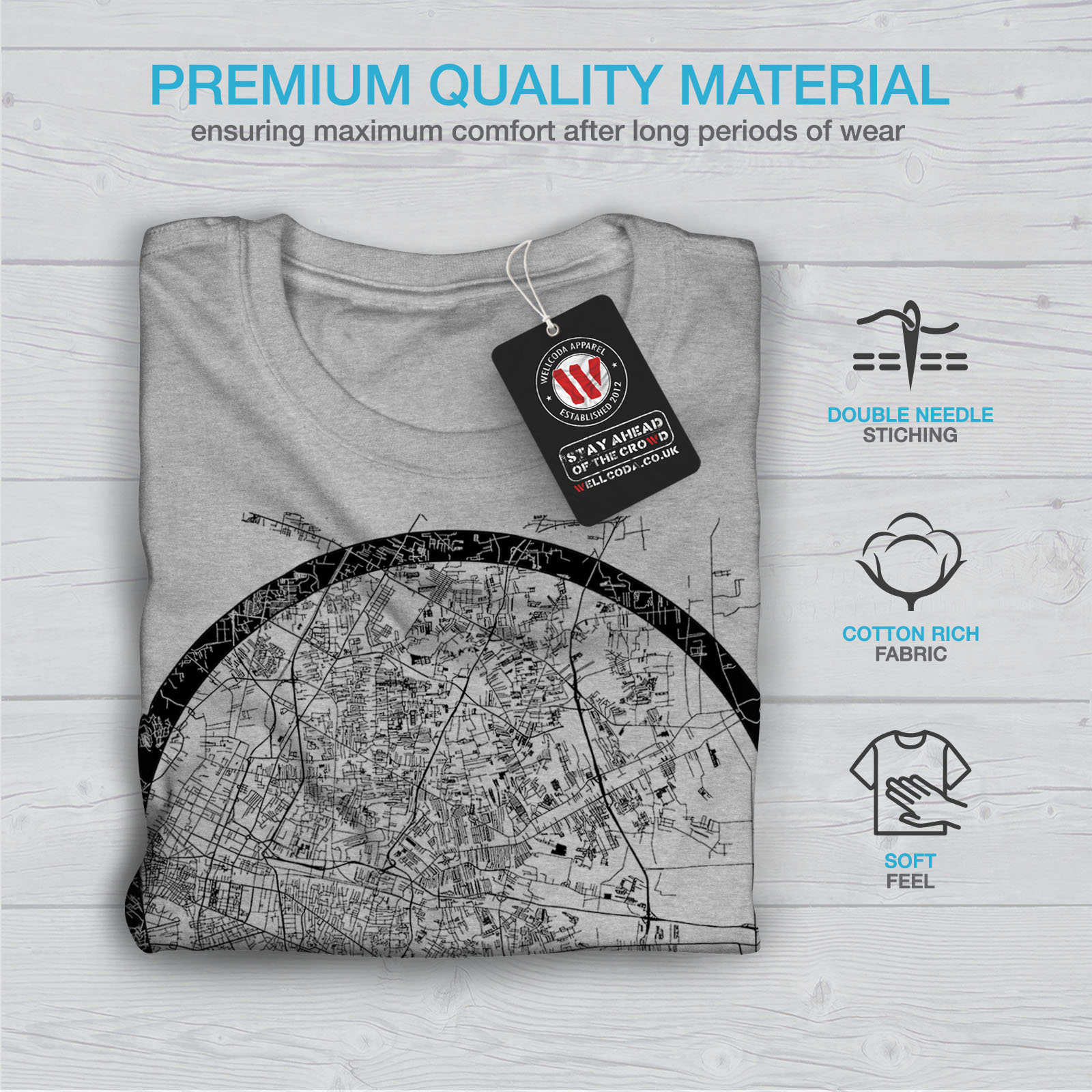 Wellcoda-Thailand-Bangkok-Map-Mens-T-shirt-Big-Graphic-Design-Printed-Tee thumbnail 19
