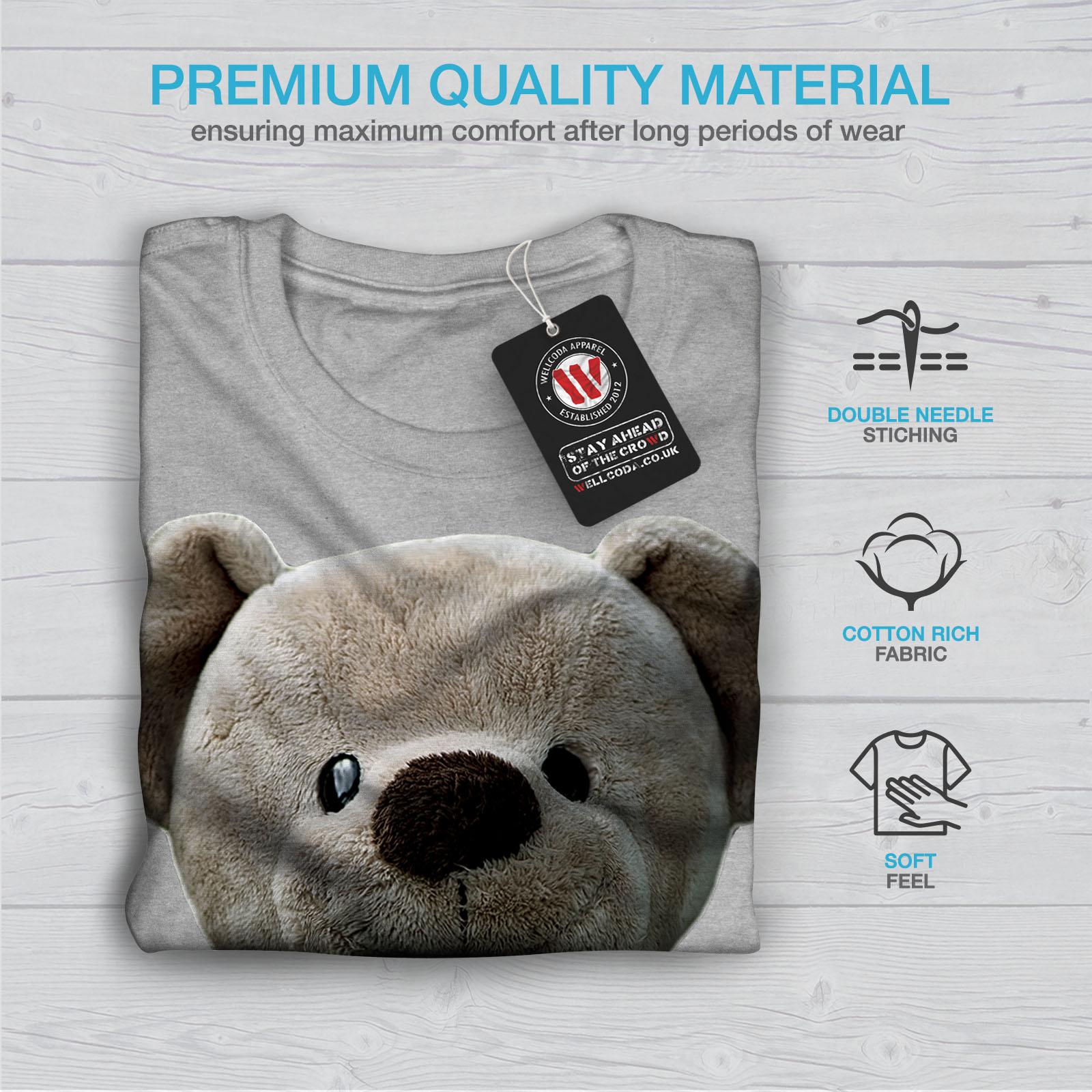 miniature 19 - Wellcoda Cute Plush Mens T-shirt, Teddy Bear Graphic Design Printed Tee