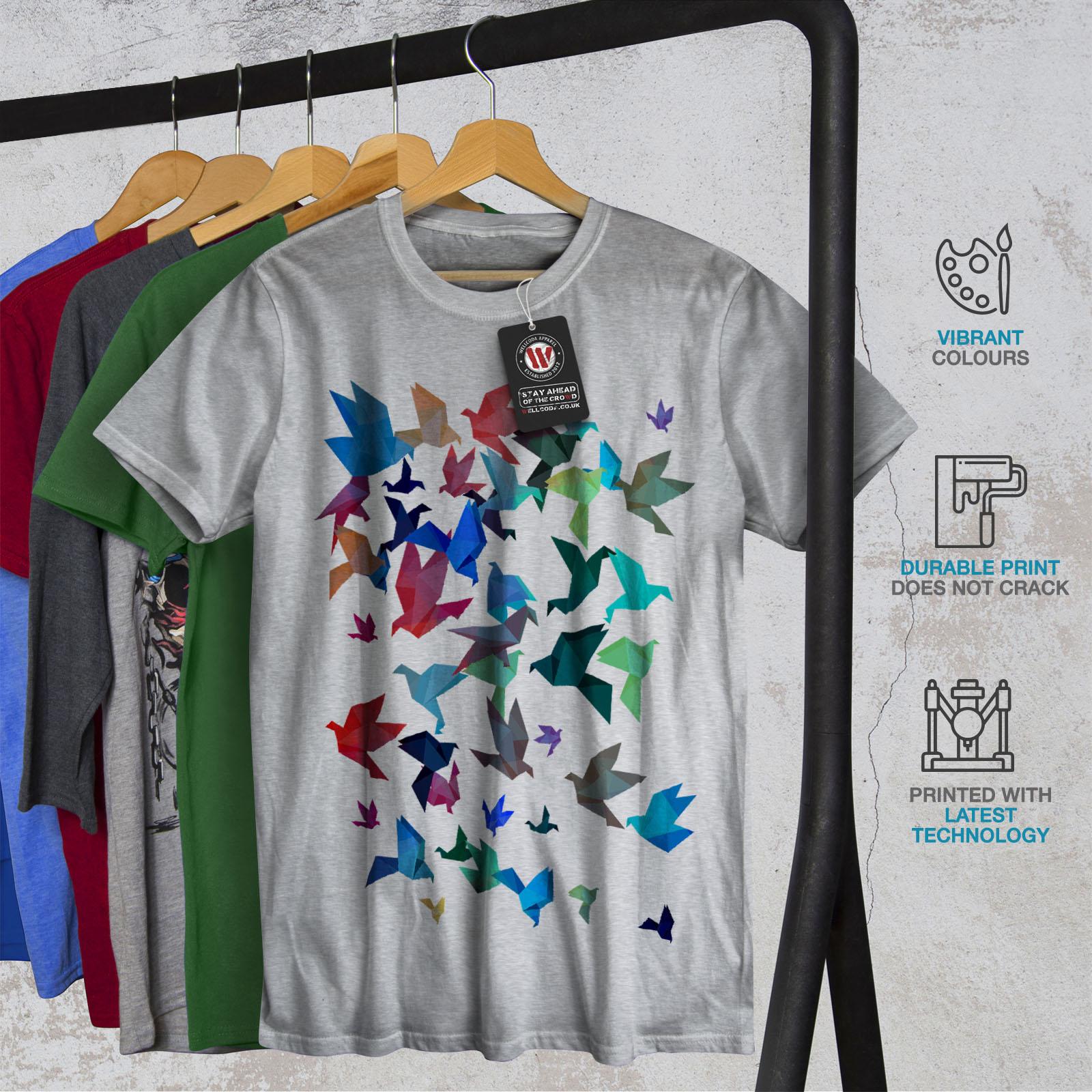 Wellcoda-Origami-Bird-Colors-Mens-T-shirt-Craft-Graphic-Design-Printed-Tee thumbnail 18