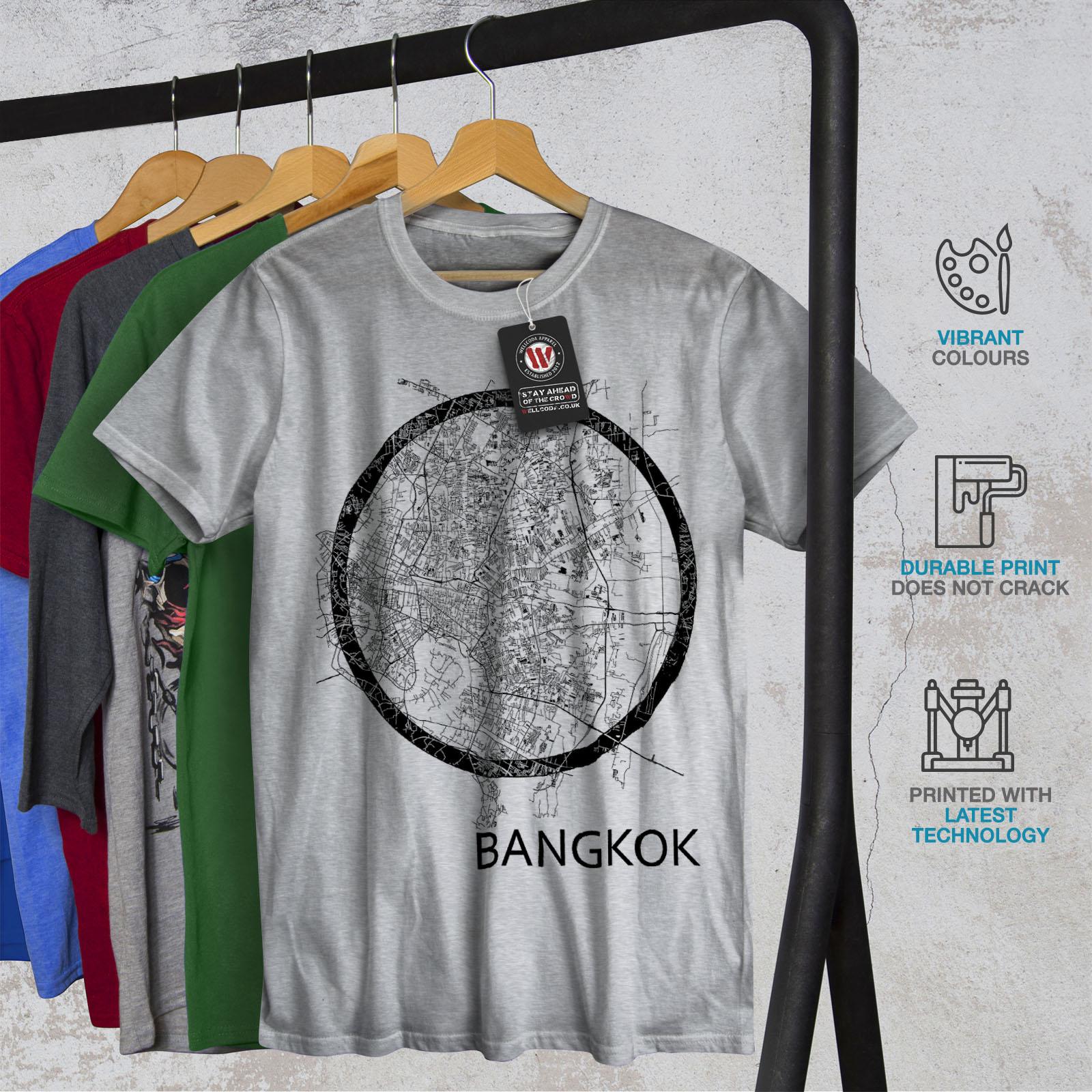 Wellcoda-Thailand-Bangkok-Map-Mens-T-shirt-Big-Graphic-Design-Printed-Tee thumbnail 18