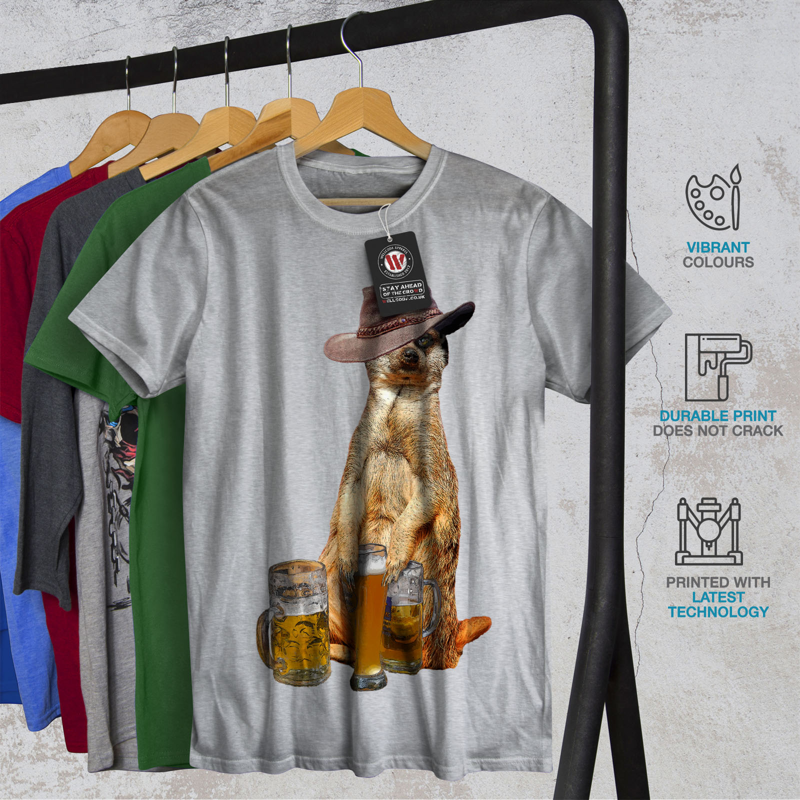 Wellcoda-Drunk-Animal-Beer-Mens-T-shirt-Funny-Graphic-Design-Printed-Tee thumbnail 18
