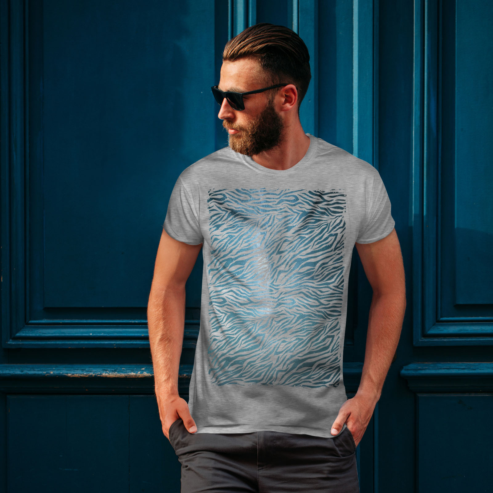Wellcoda-Fashion-Pattern-Mens-T-shirt-Animal-Graphic-Design-Printed-Tee miniatuur 16