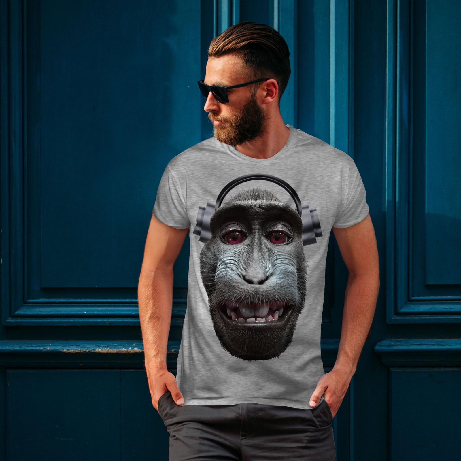 Audio Active Sports Shirt Wellcoda Monkey Song Animal Mens Tank Top