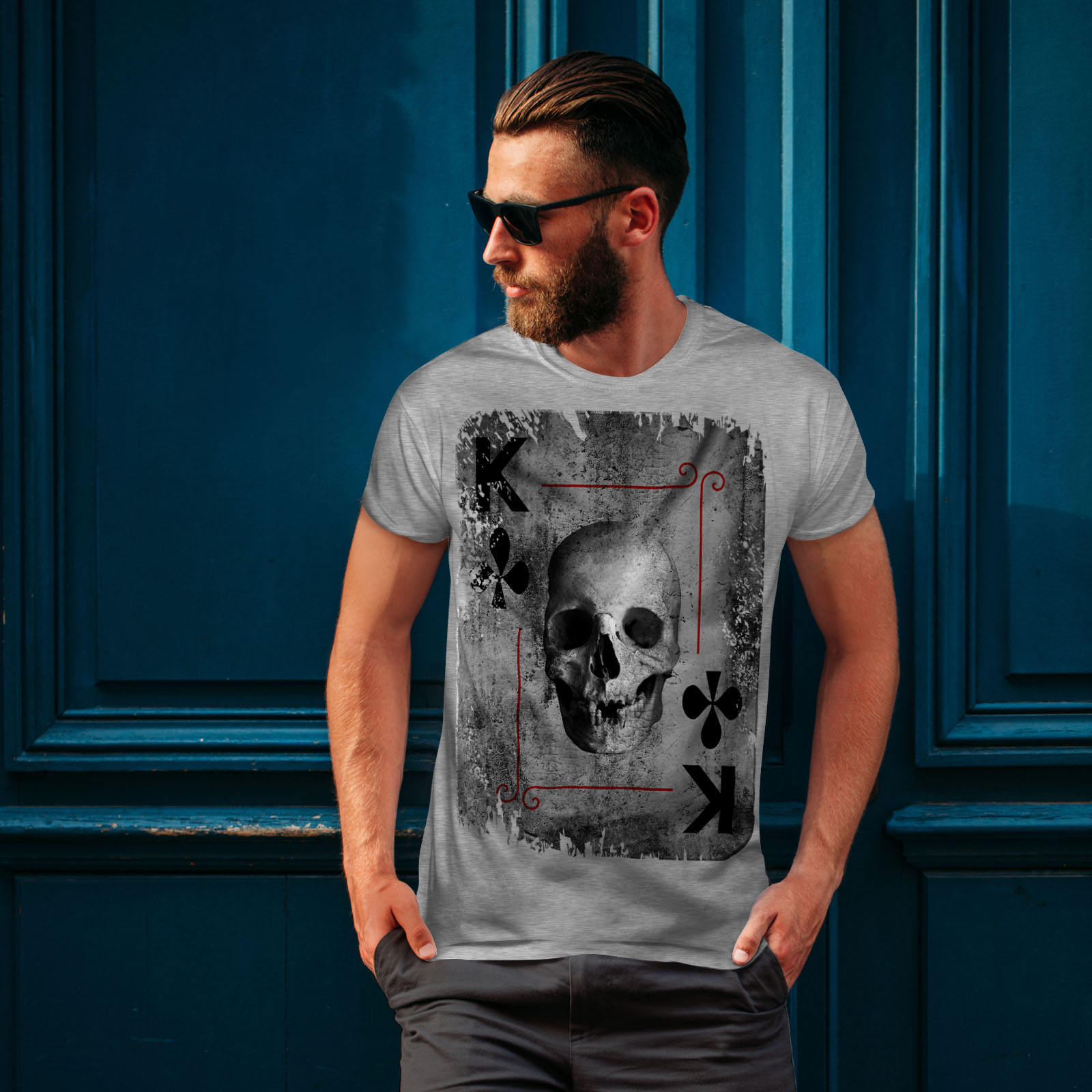Wellcoda Playing Card Theme Mens T-shirt Angel Graphic Design Printed Tee