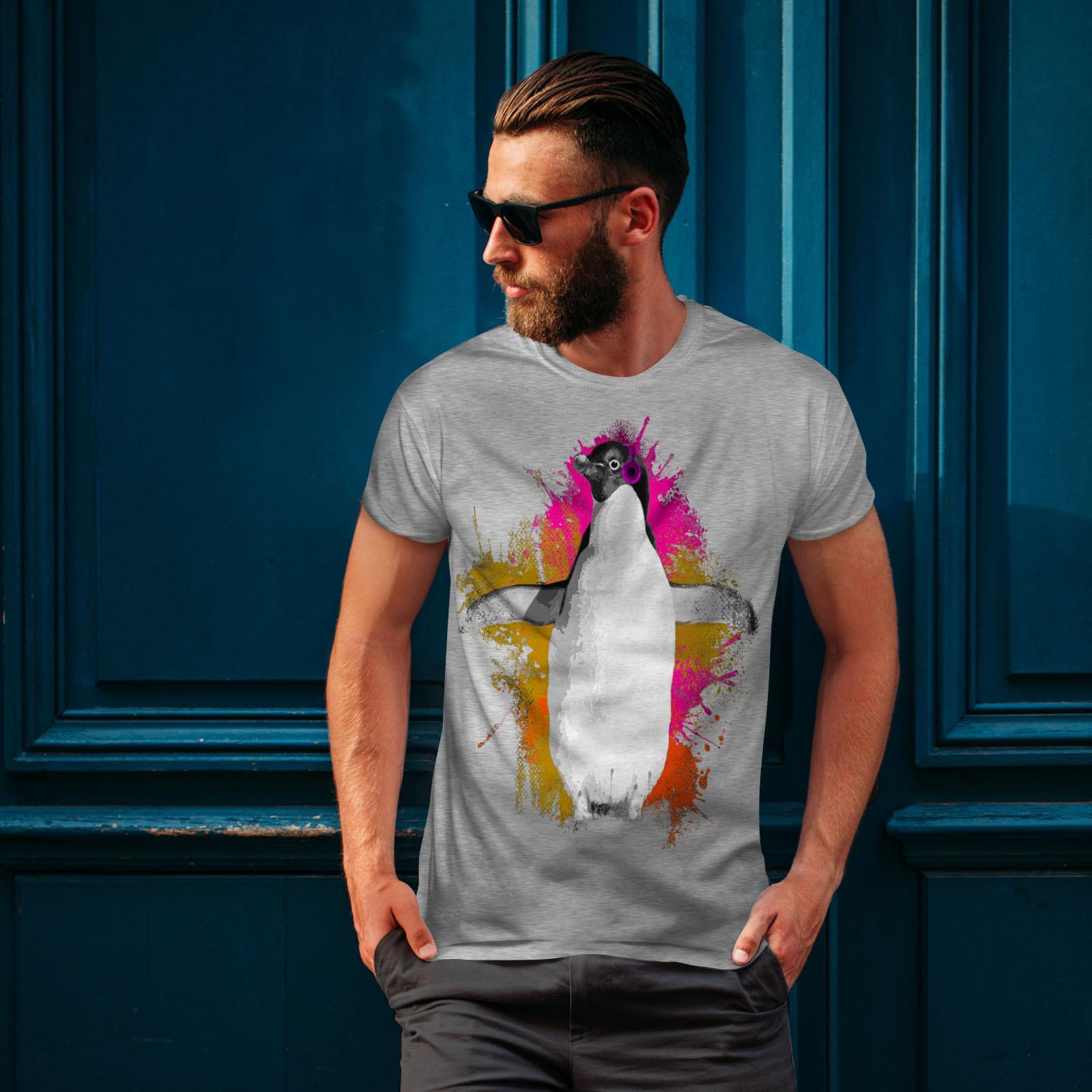 Wellcoda Penguin Music Fan Mens T-shirt Funny Graphic Design Printed Tee