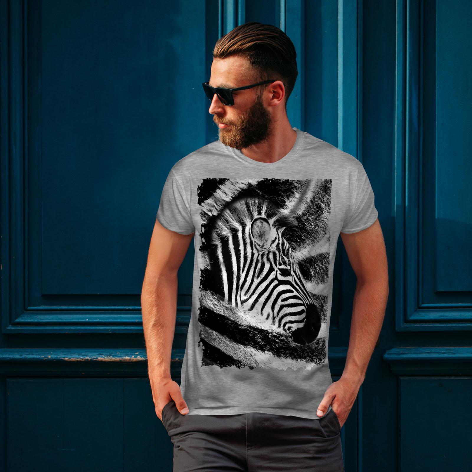 Africa Graphic Design Printed Tee Wellcoda Animal Design Cute Mens T-shirt