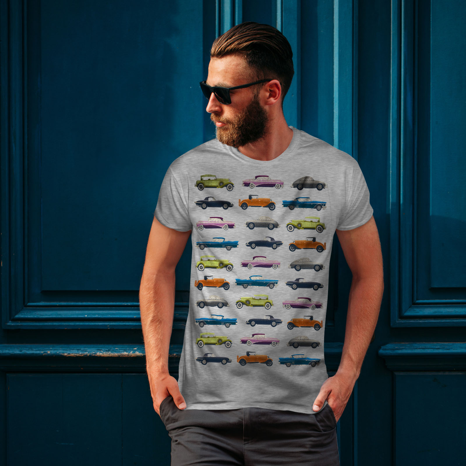 Wellcoda-Classic-Old-Pattern-Car-Mens-T-shirt-Retro-Graphic-Design-Printed-Tee thumbnail 16