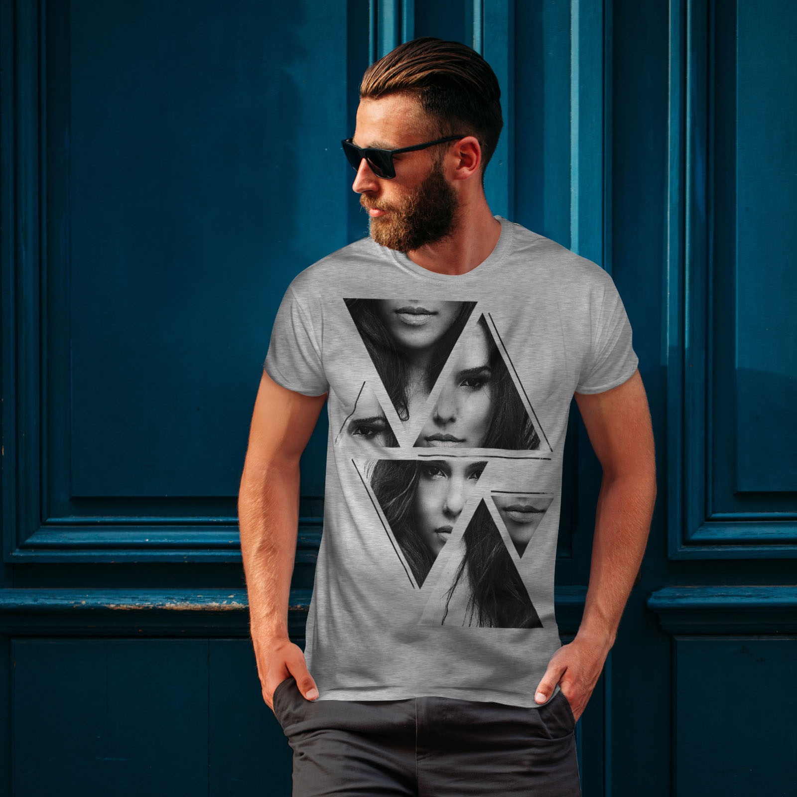 Wellcoda-Art-Fashion-Face-T-shirt-homme-Abstract-Design-graphique-imprime-Tee miniature 16