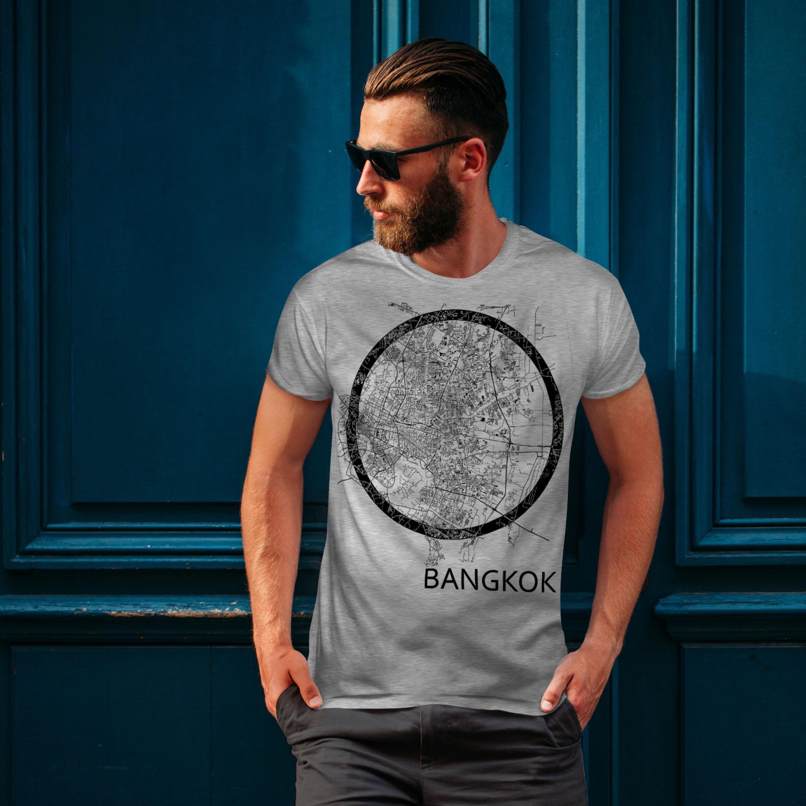 Wellcoda-Thailand-Bangkok-Map-Mens-T-shirt-Big-Graphic-Design-Printed-Tee thumbnail 16