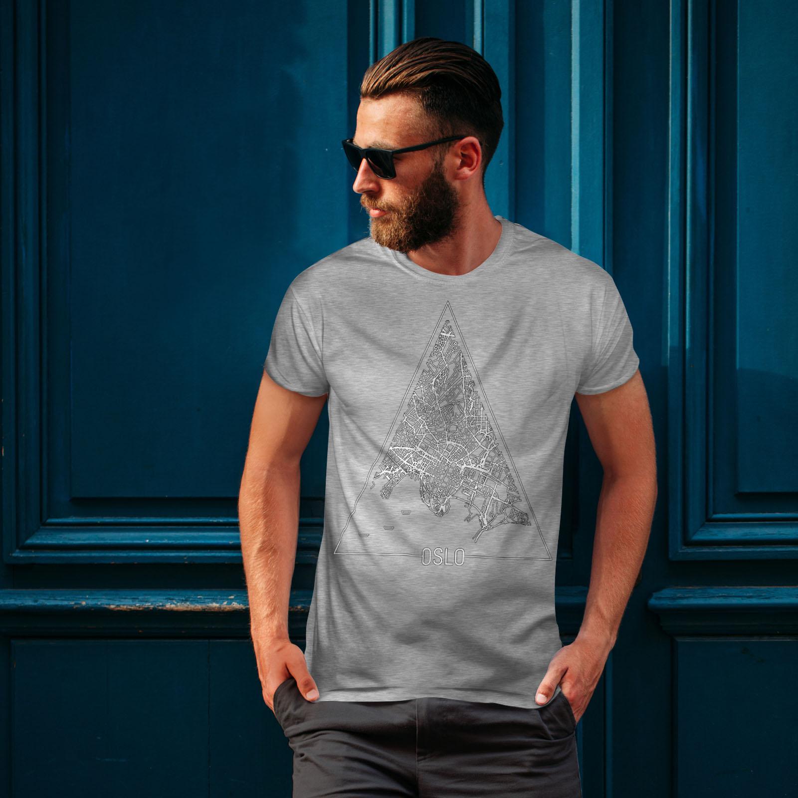 Wellcoda-Norvegia-Big-City-Oslo-da-uomo-T-shirt-Citta-design-grafico-stampato-T-shirt miniatura 16