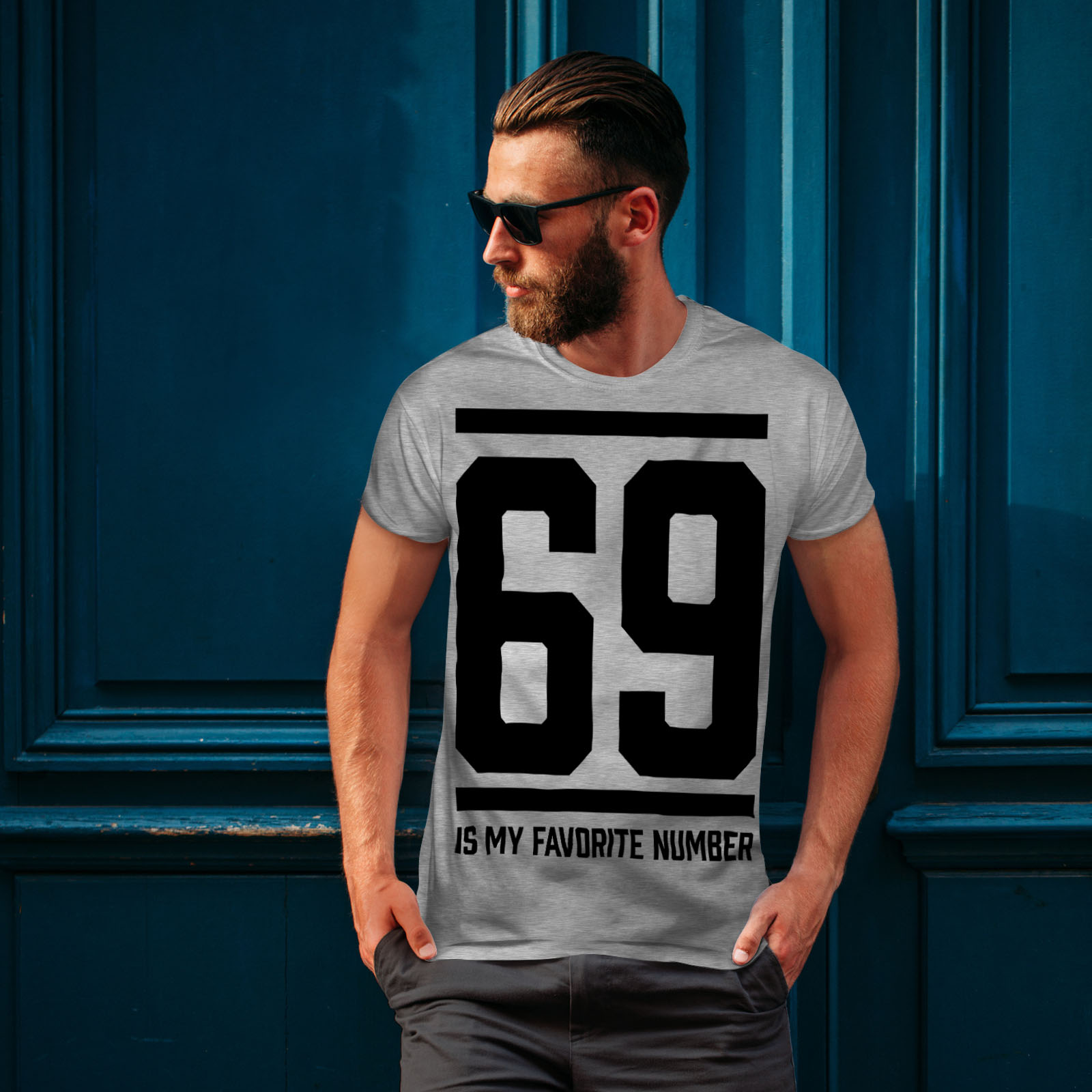 Wellcoda-69-Favorite-Number-Mens-T-shirt-Sports-Graphic-Design-Printed-Tee thumbnail 16