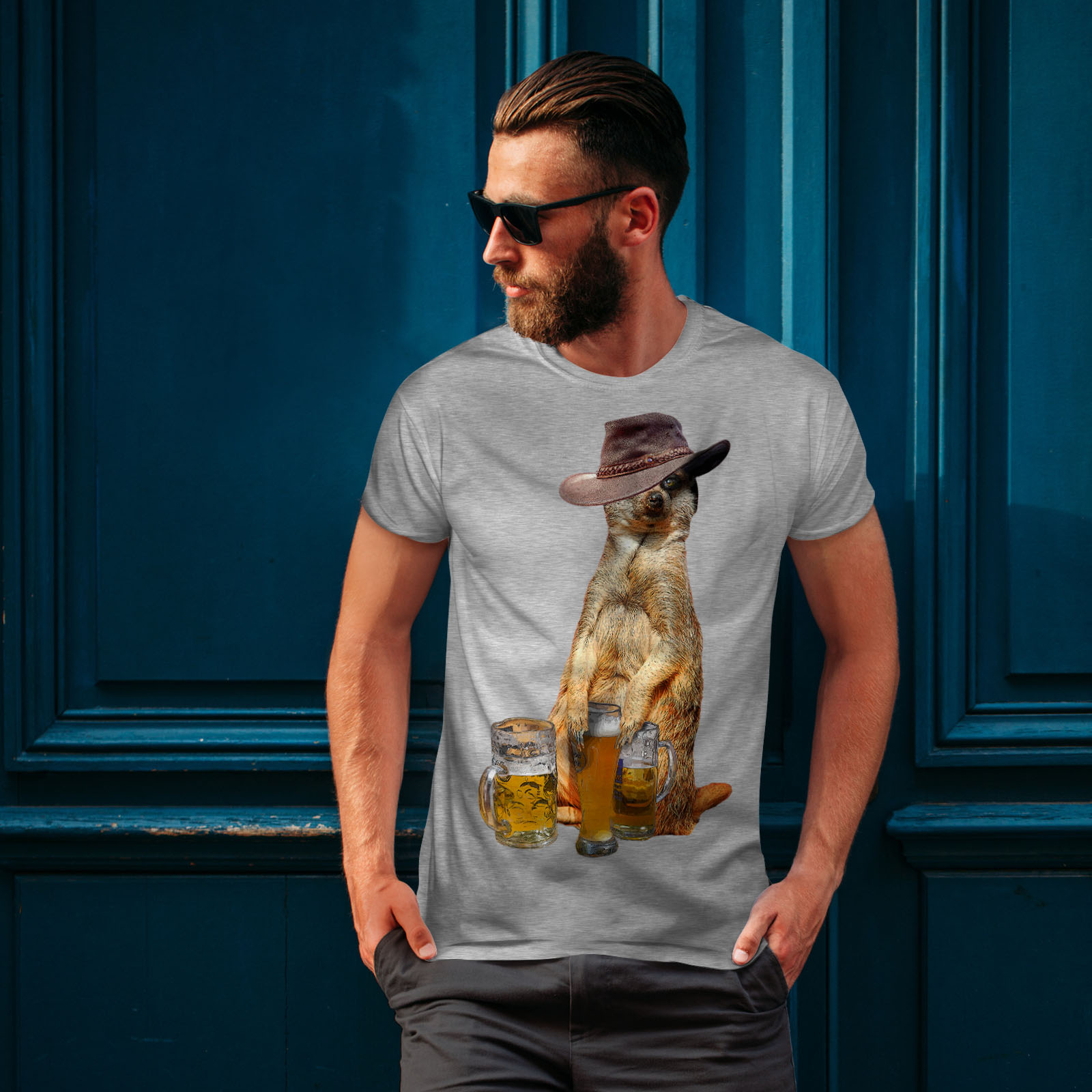 Wellcoda-Drunk-Animal-Beer-Mens-T-shirt-Funny-Graphic-Design-Printed-Tee thumbnail 16