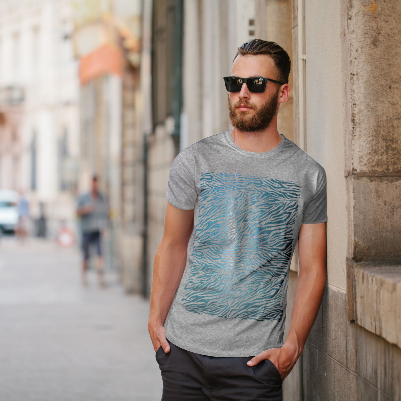 Wellcoda-Fashion-Pattern-Mens-T-shirt-Animal-Graphic-Design-Printed-Tee miniatuur 17