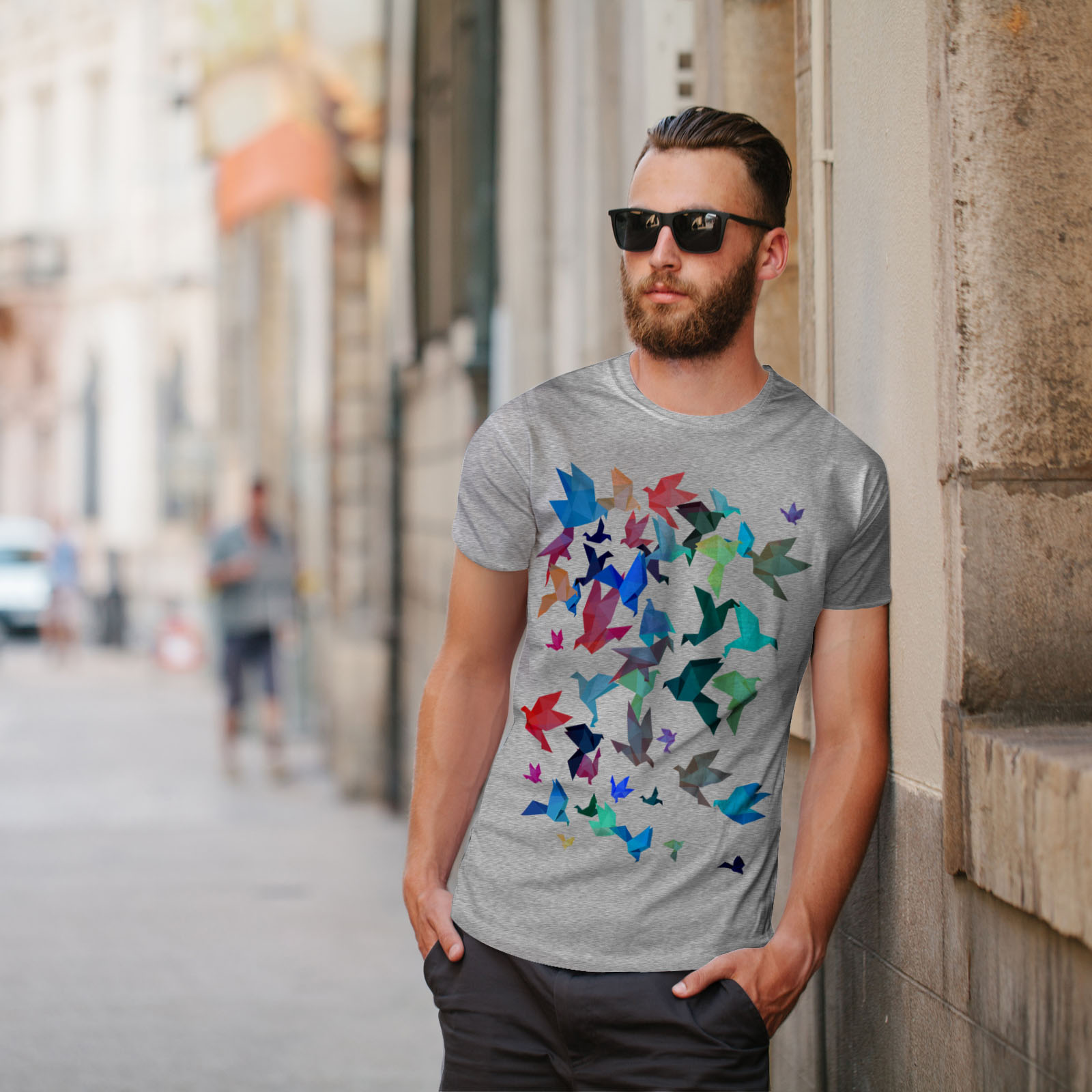 Wellcoda-Origami-Bird-Colors-Mens-T-shirt-Craft-Graphic-Design-Printed-Tee thumbnail 17